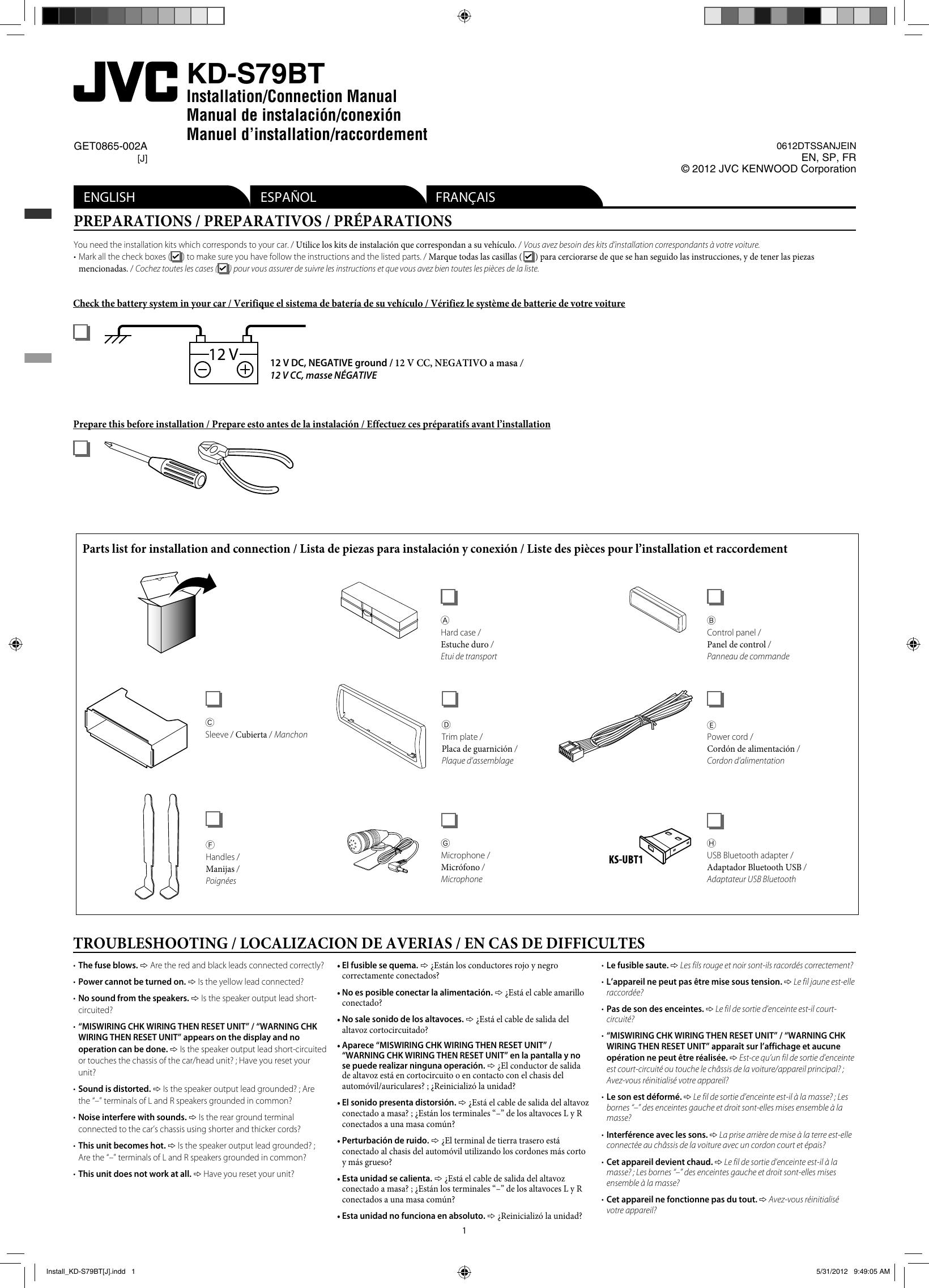Jvc Kd S79Bt Wiring Diagram from usermanual.wiki