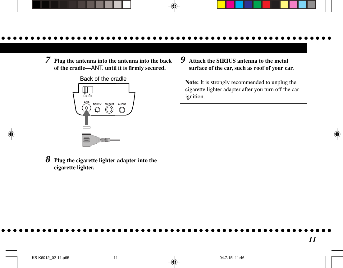 JVC KS K6012 K6012_Cover.p65 User Manual LVT1262 001A
