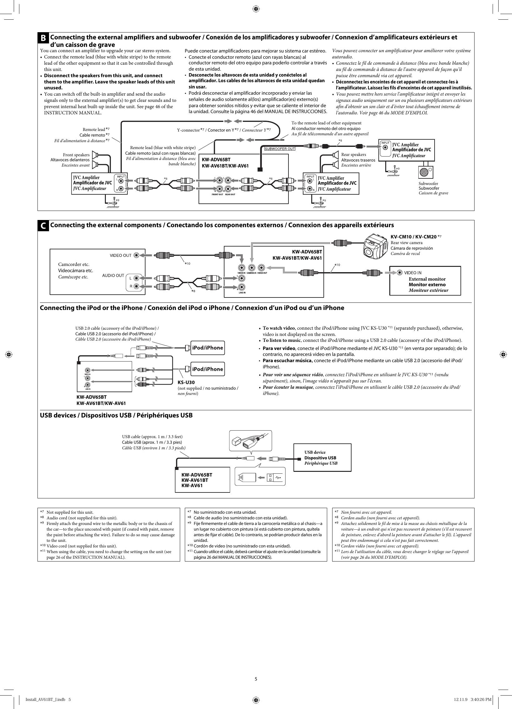 Kw Avx710 Wiring Diagram And Schematics Jvc Adv65btj Adv65bt Av61bt Av61 J Jw User Manual Get0884 003a