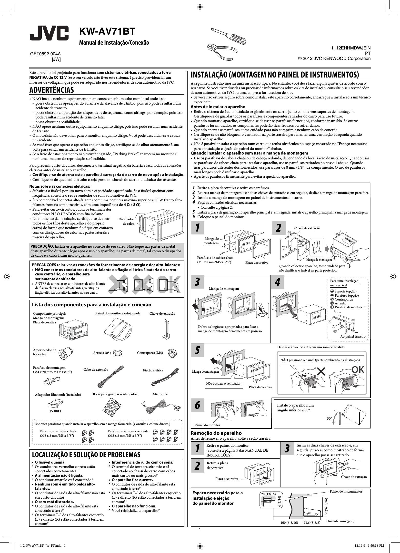 Jvc Kw Av71bt Wiring Diagram Electrical Diagrams 18 Av71btjw User Manual De Instala O Dvd Car Stereo Parts