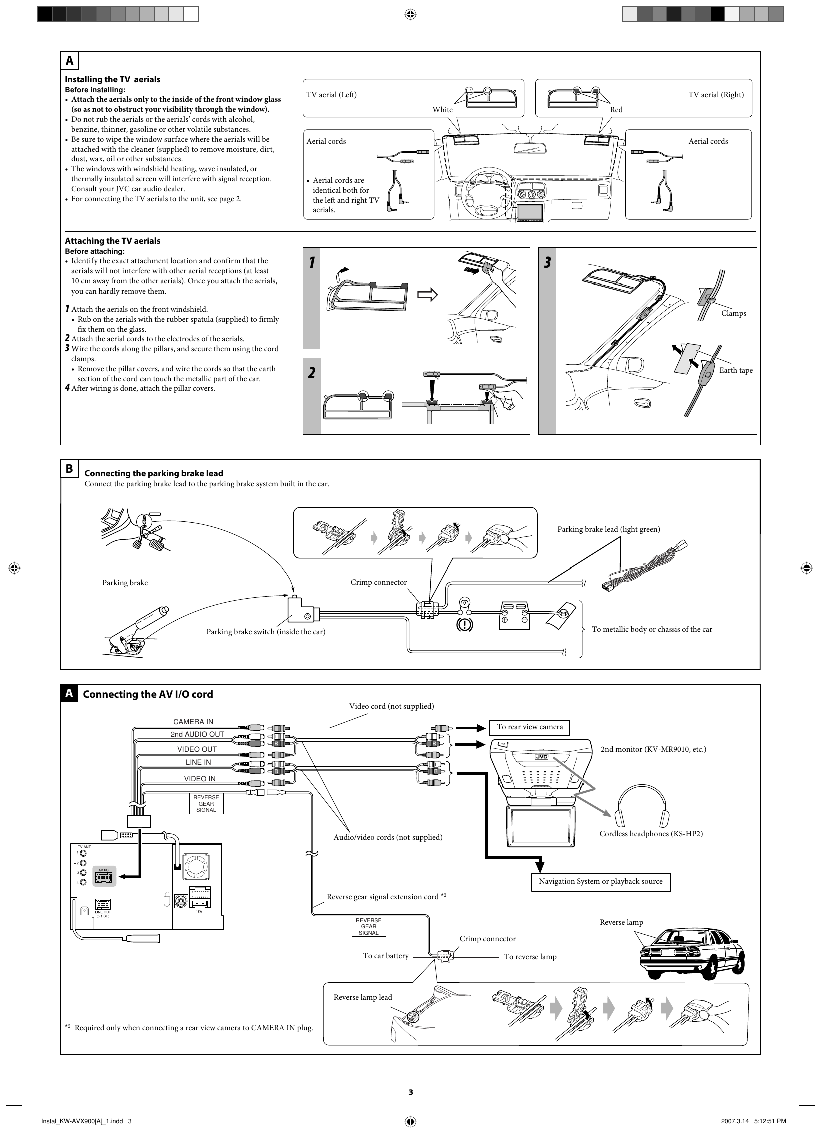 Jvc Kw Avx900a Installation User Manual Lvt1670 005a Avx 900 Wiring Diagram Page 3 Of 4