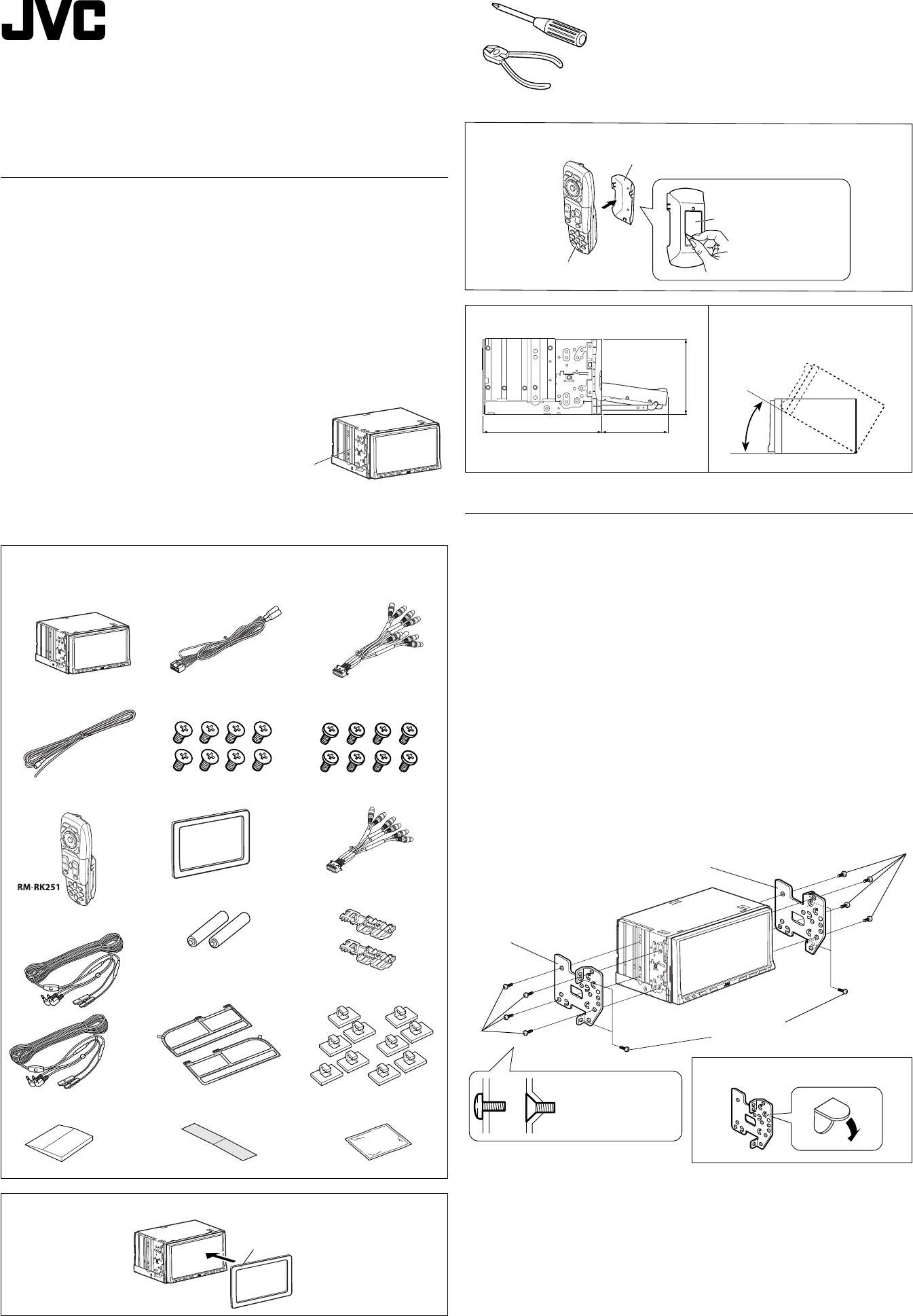 Jvc Kw Avx900a Installation User Manual Lvt1670 005a Avx 900 Wiring Diagram