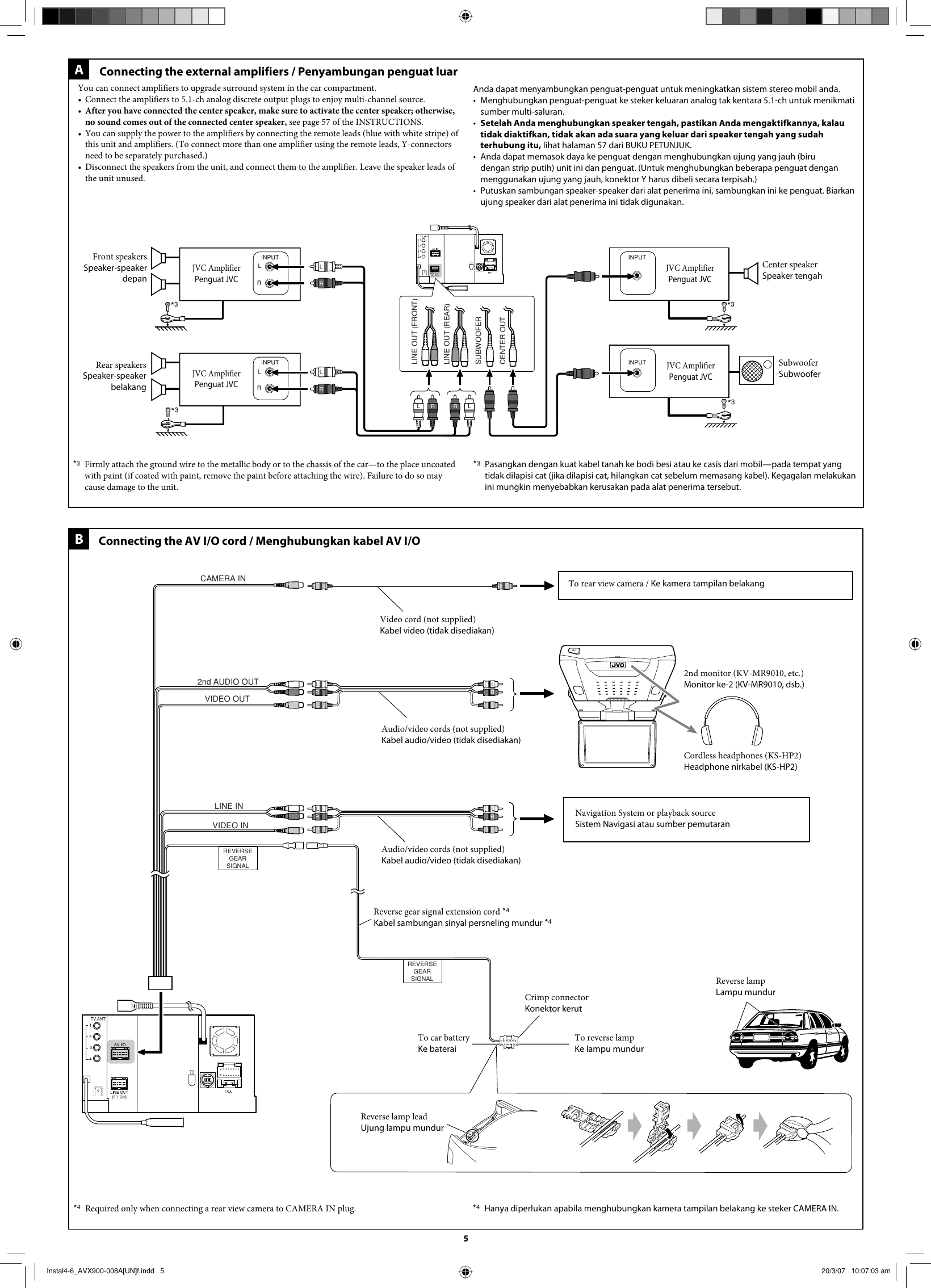 Jvc Kw Avx900un Installation User Manual Lvt1670 008a Avx 900 Wiring Diagram Page 5 Of 6