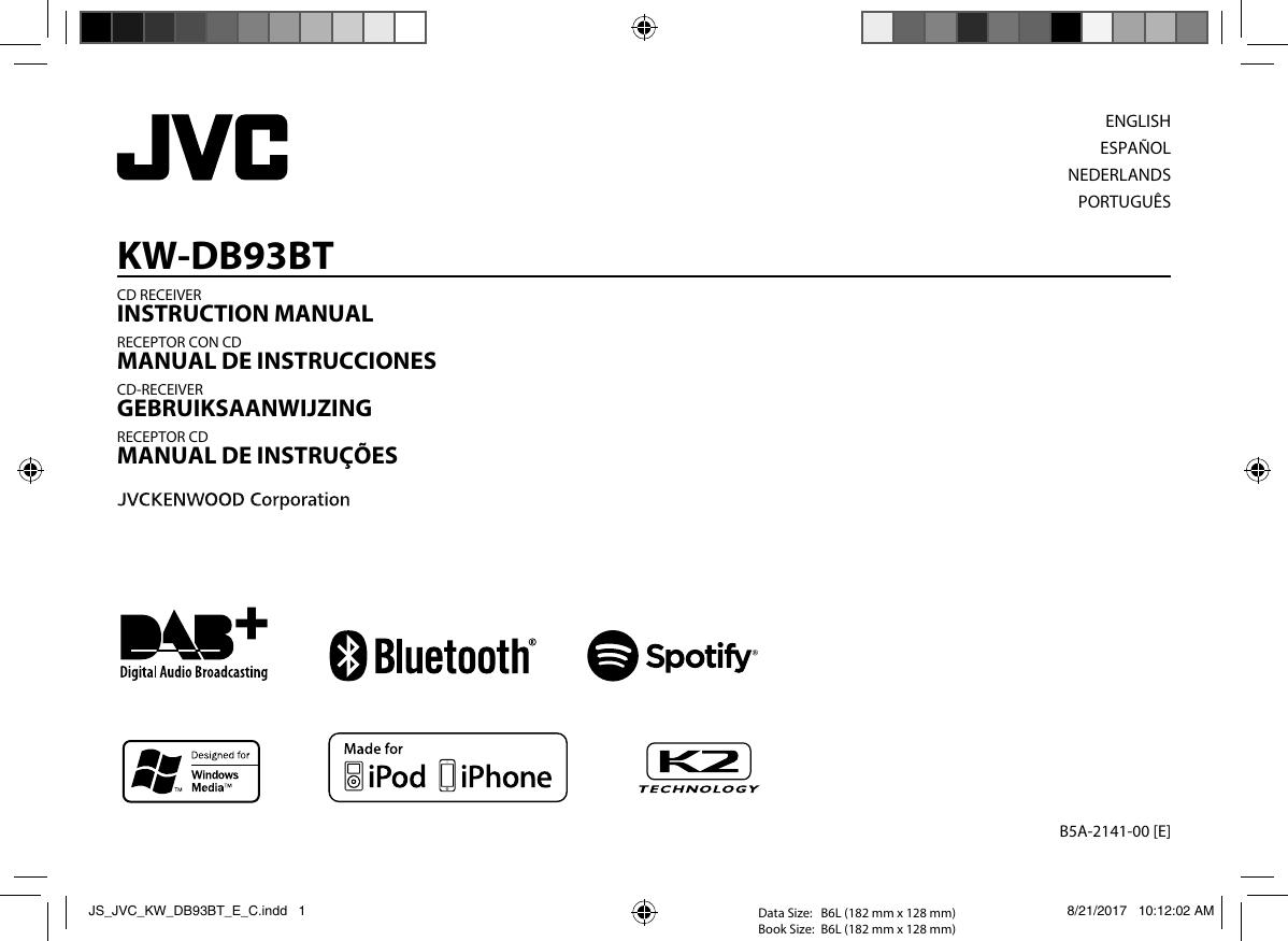 jvc kw db93bt kw db93bt e user manual b5a 2141 00. Black Bedroom Furniture Sets. Home Design Ideas