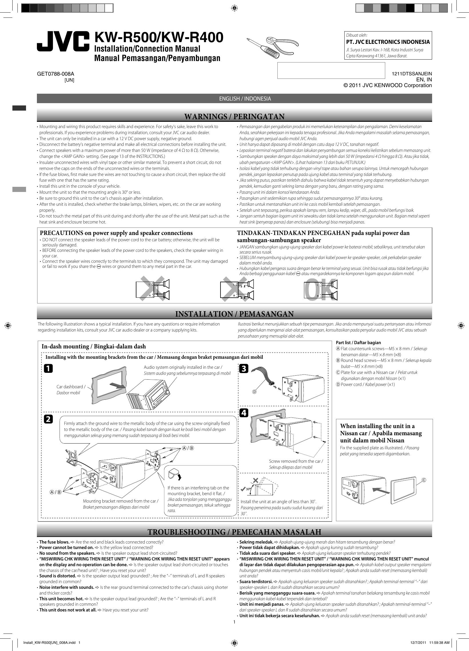 jvc kwr500 manual