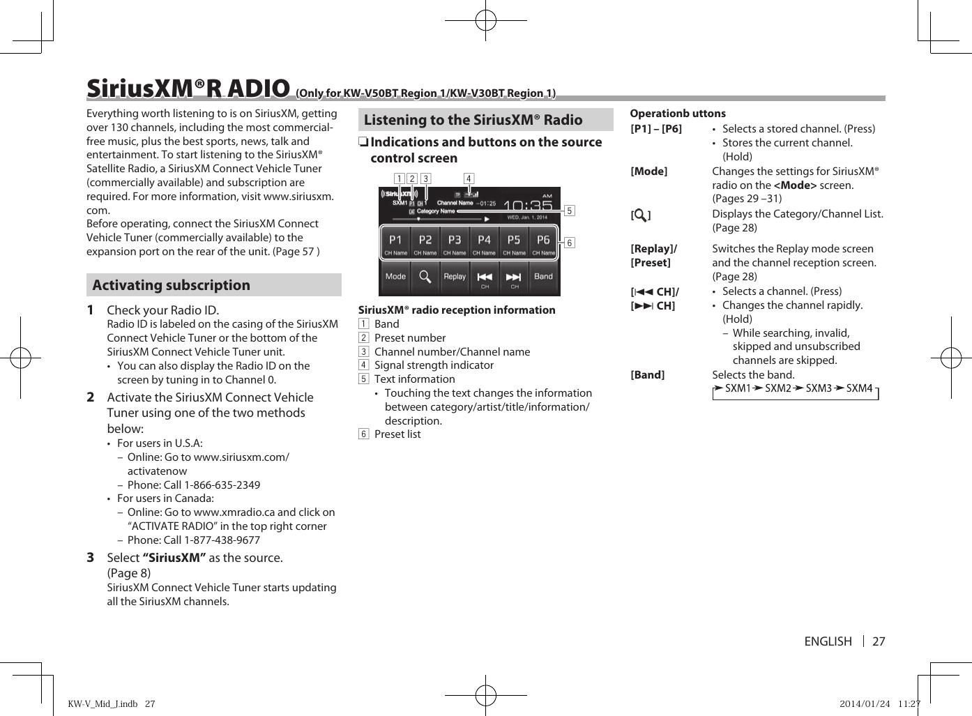 Kenwood Kmm 264 Mode Demploi