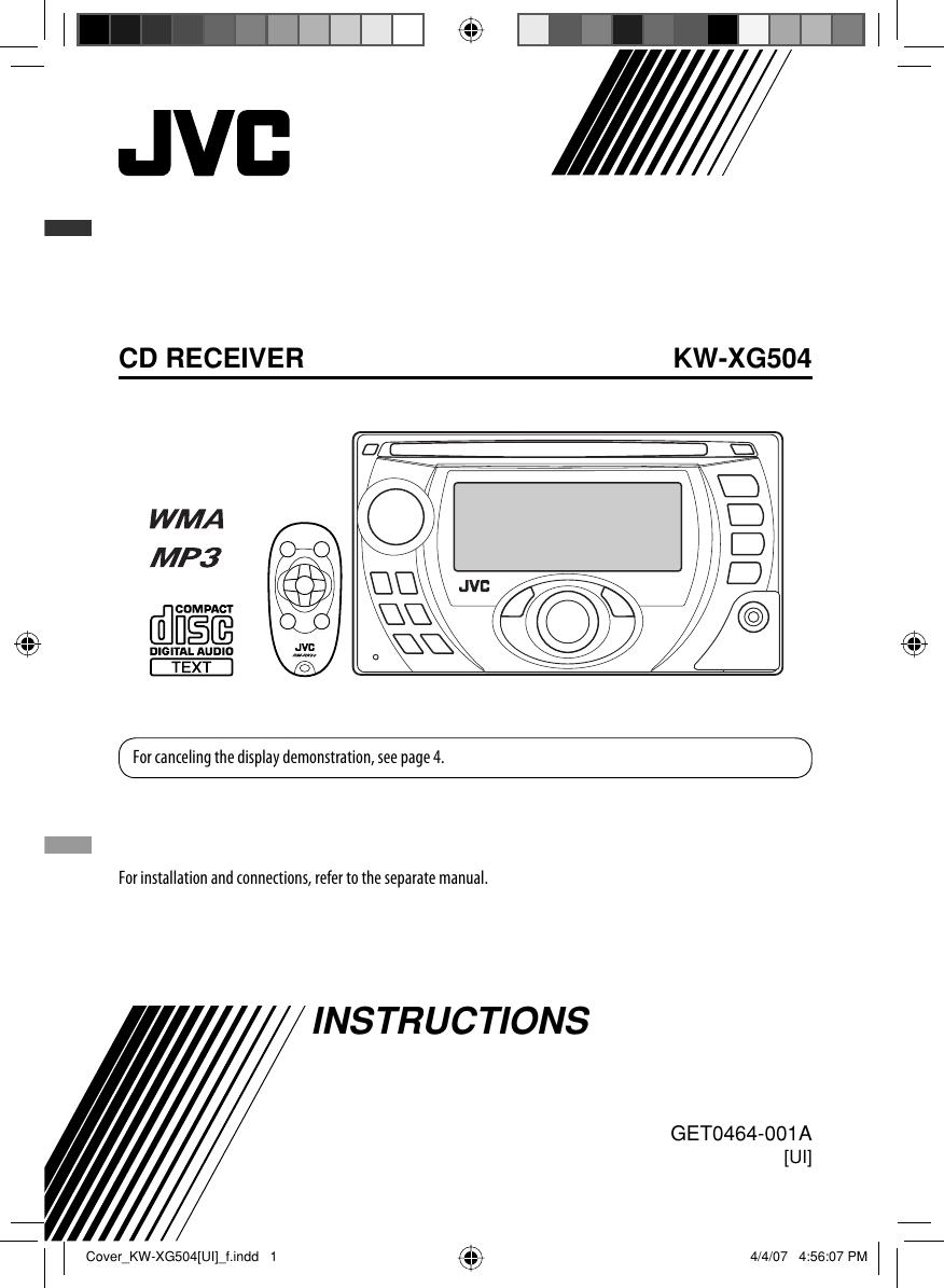 Jvc Kw Xg504ui Cover F User Manual Get0464 001a V1 0 Wiring Diagram