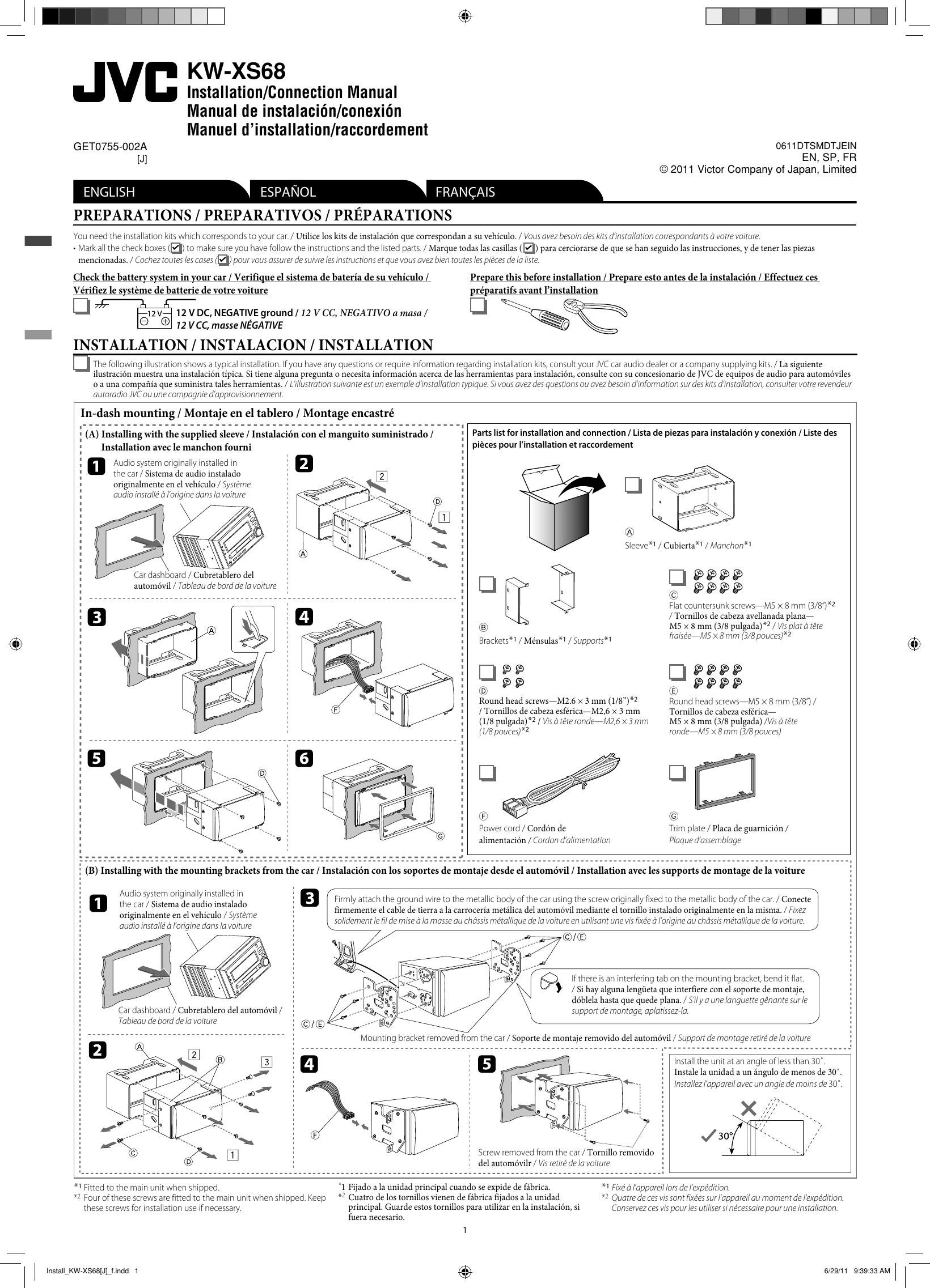 Jvc Kw Xs68j Install Kw Xs68 J F User Manual Get0755 002a