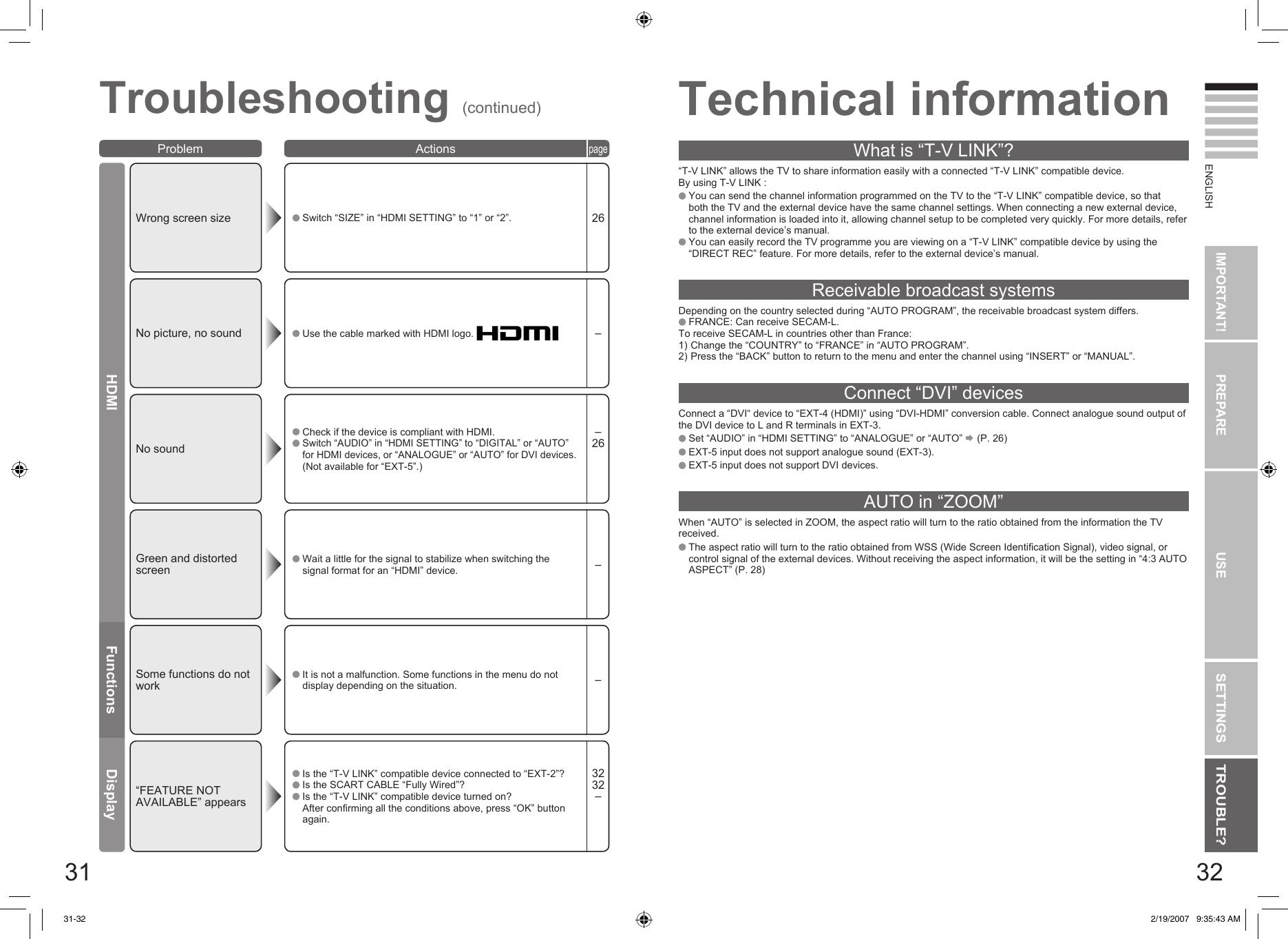 JVC LT 26A80SU 42&37&32&26A80SUZU User Manual 26A80SU, 26A80ZU