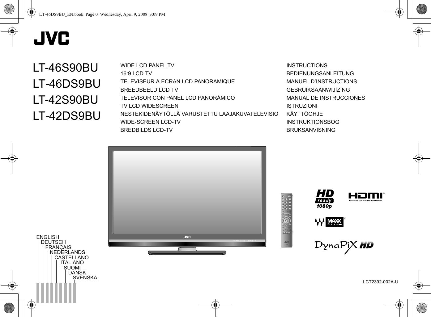 Jvc Lt 42ds9bu 46s90bu 46ds9bu 42s90bu User Manual Blaupunkt 420 Bt Wiring Diagram Lct2392 002a U En