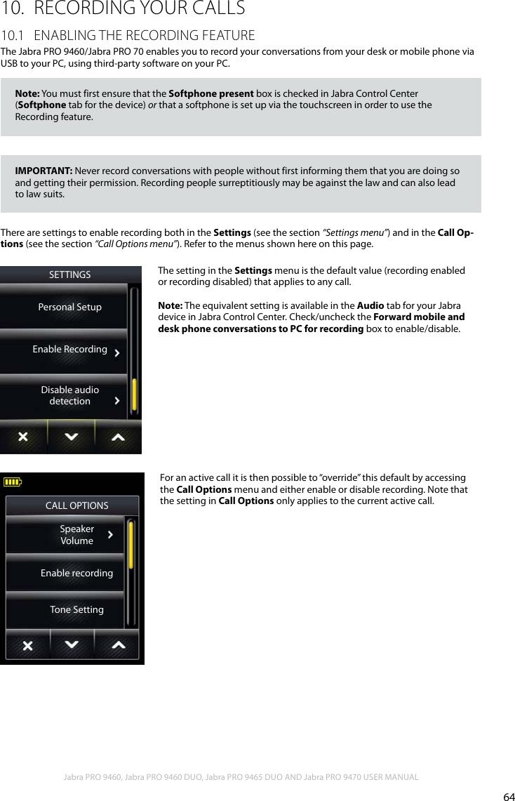 Jabra Pro 9460 Users Manual