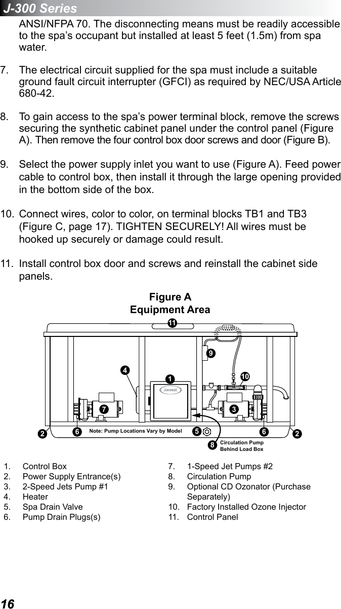 Jacuzzi J 355 Users Manual on