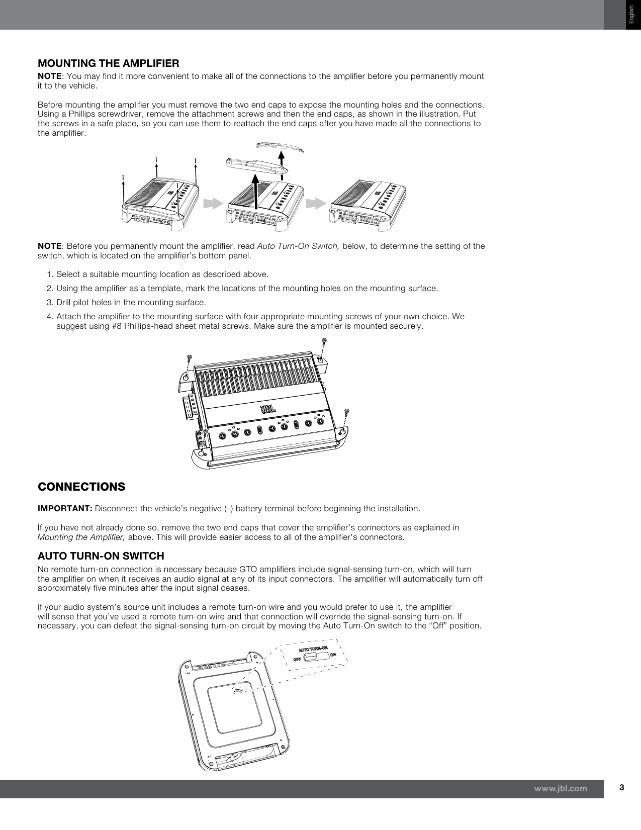page 3 of 11 - jbl jbl-gto-1001ez-users-manual-