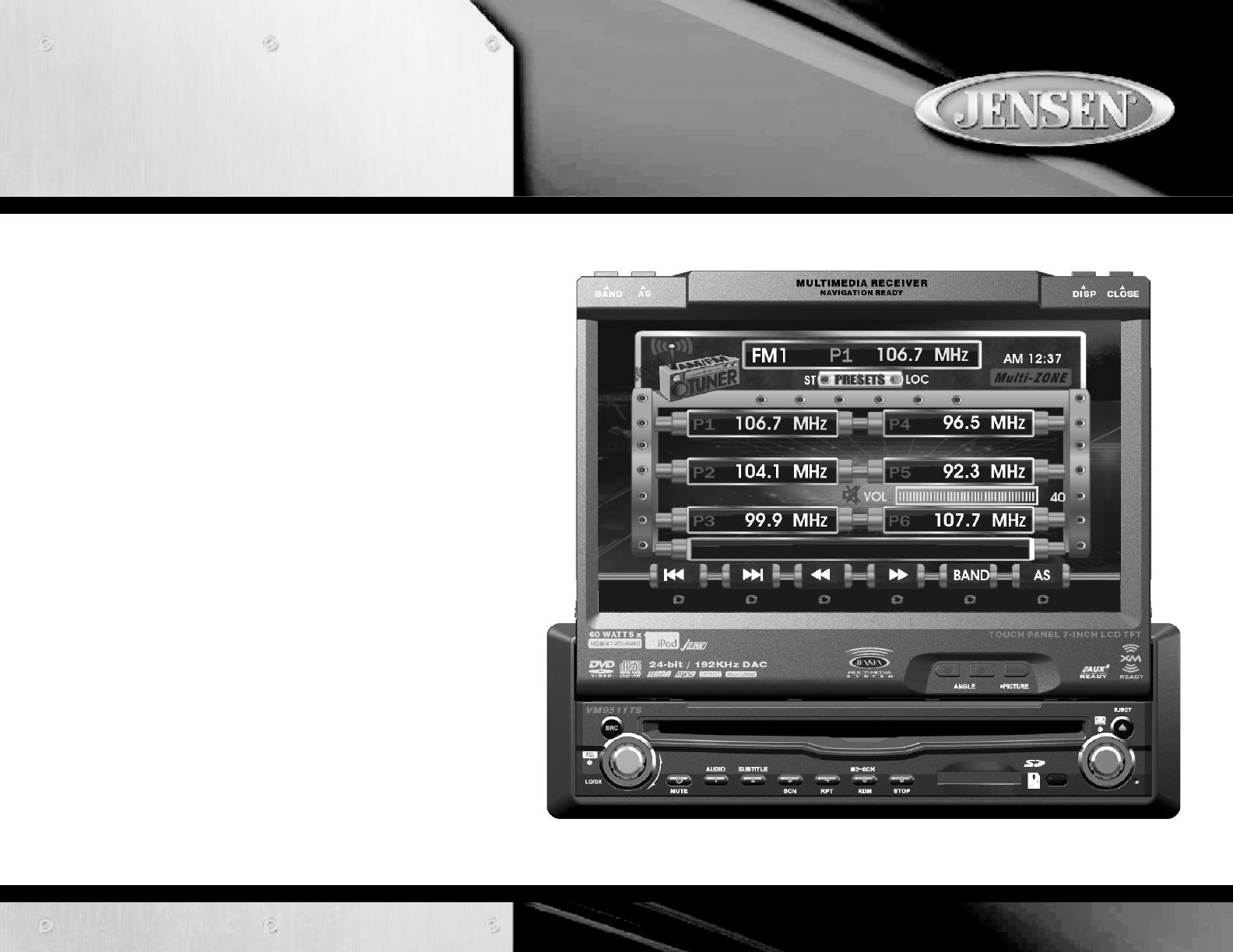 Jensen Tools Vm9511Ts Users Manual VM9411 on