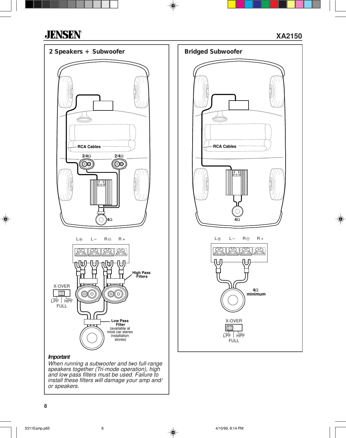 Page 8 of 12 - Jensen Jensen-Amplifier-Xa2150-Users-Manual-