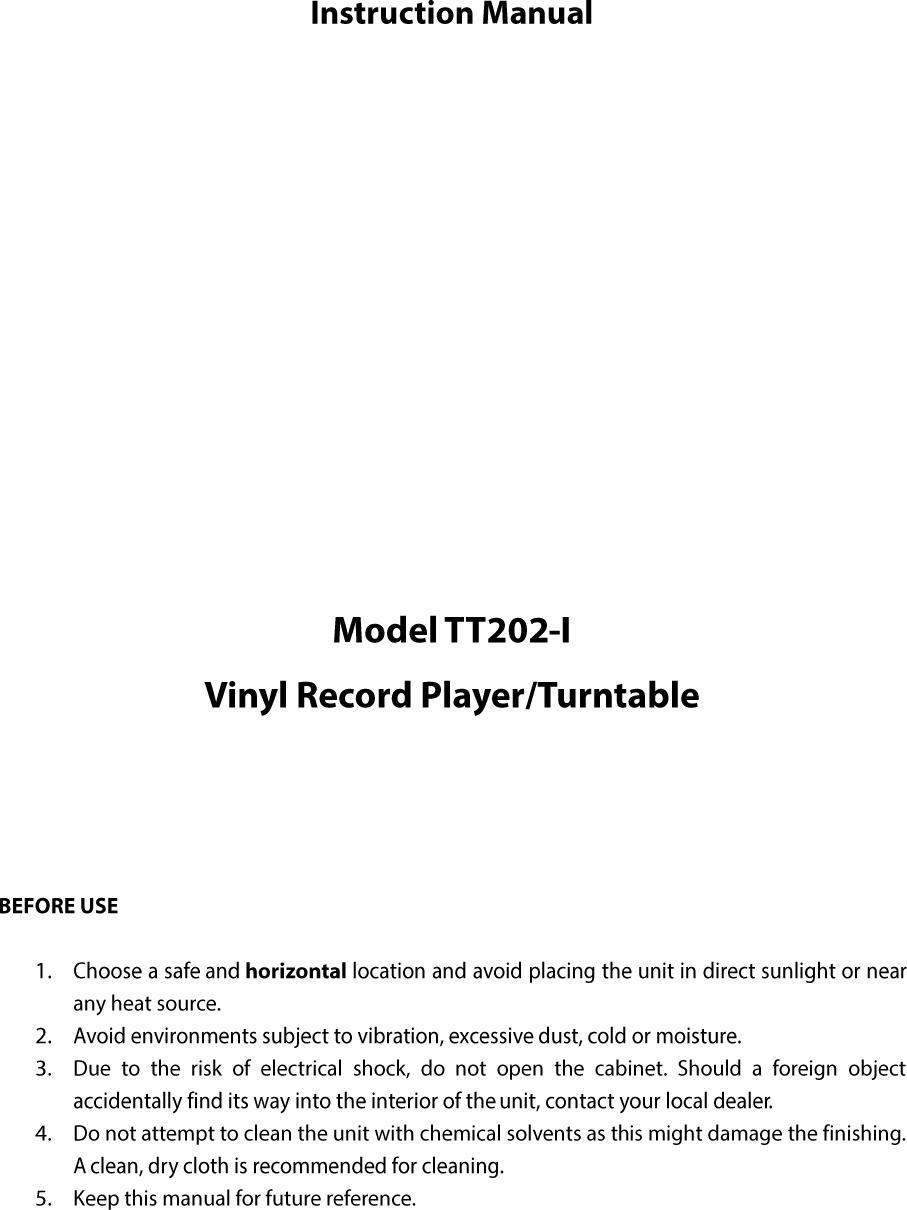 Jiayinking Technology Holding TT202-I Vinyl Record Player