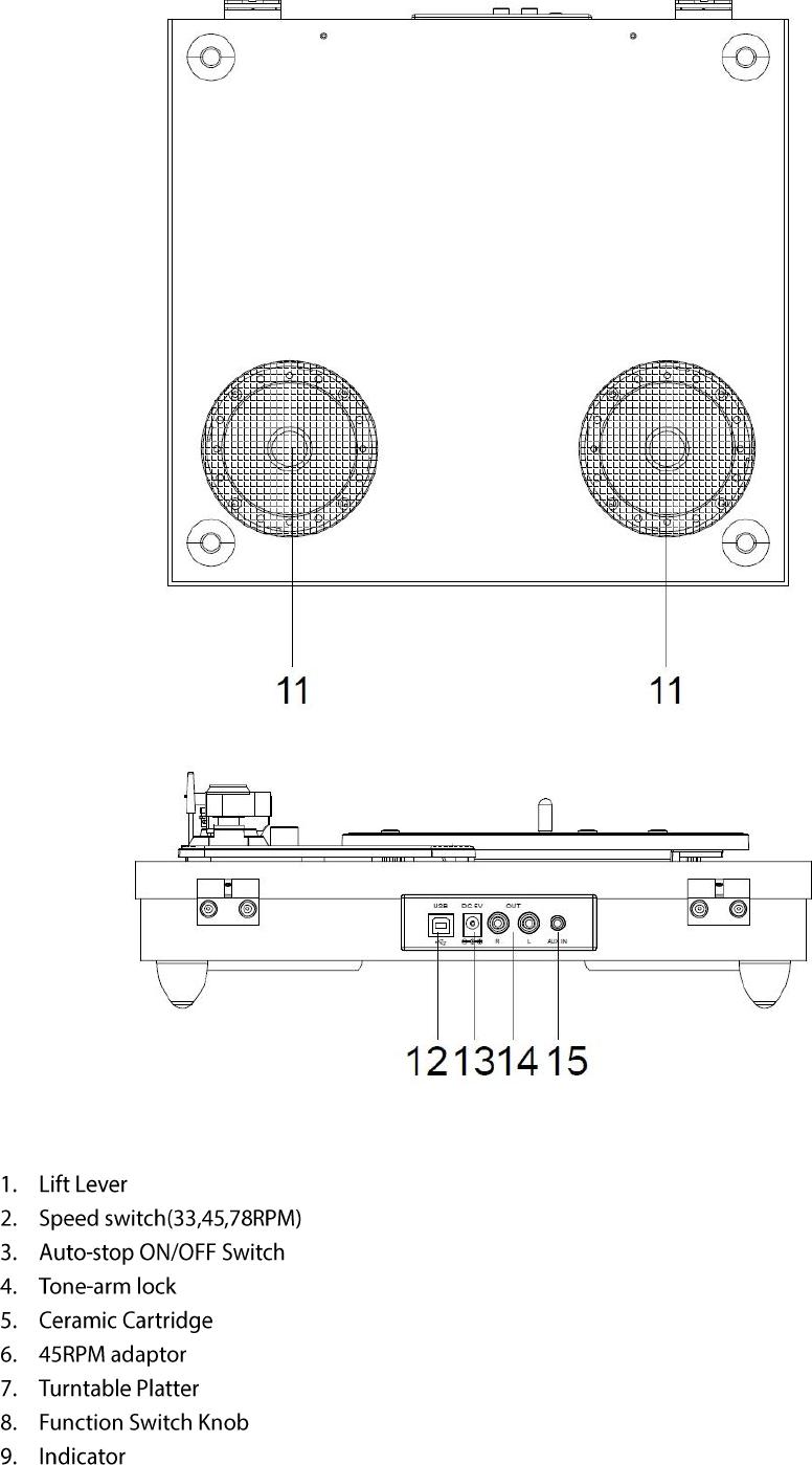 Jiayinking Technology Holding TT202-I Vinyl Record Player/Turntable