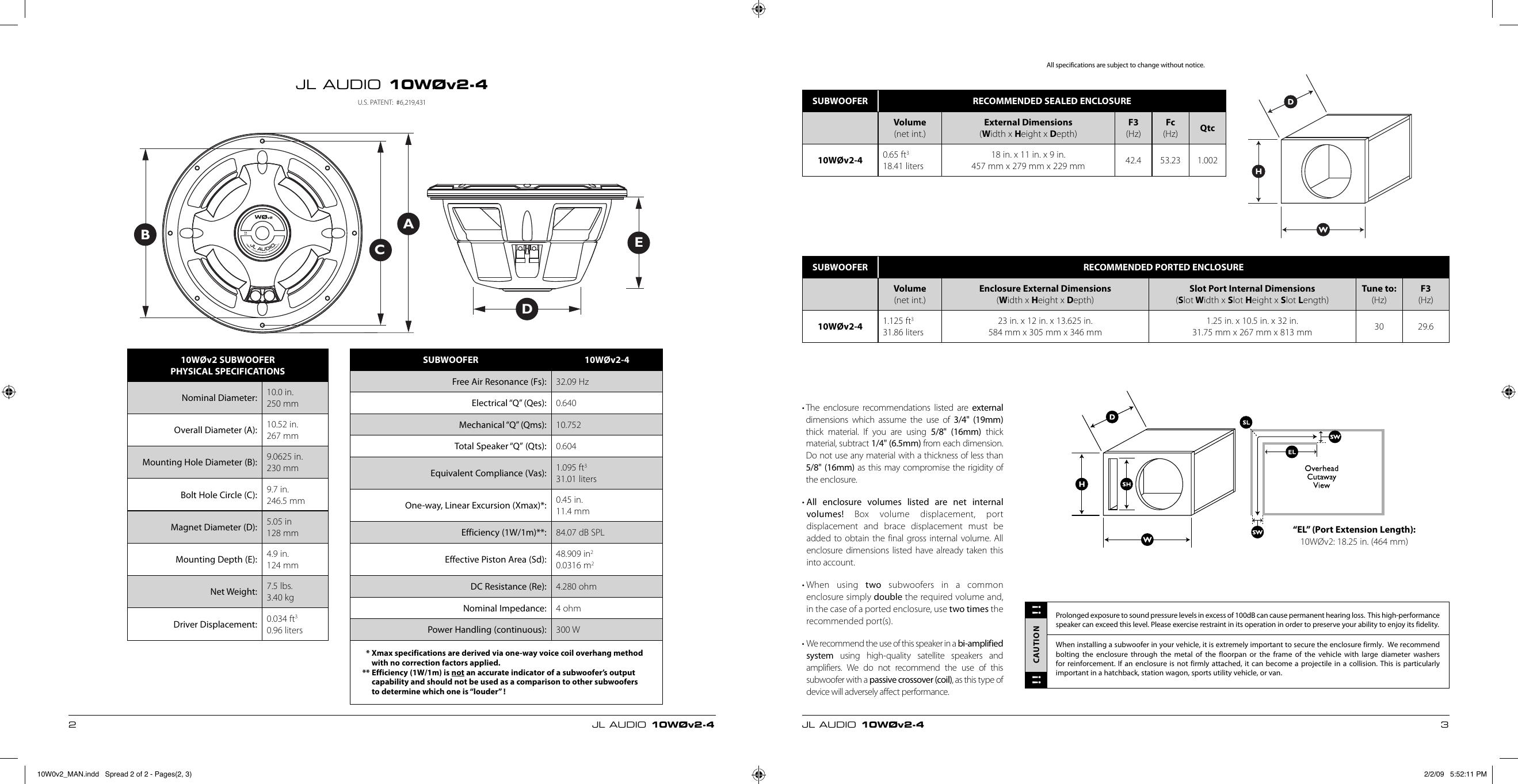 Jl Audio 10W0V2 4 Users Manual 10W0v2_MAN