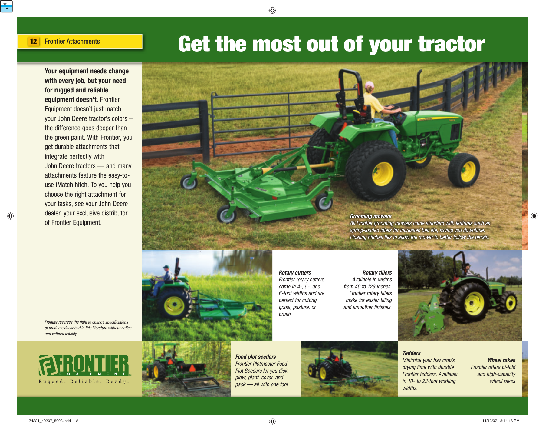 John Deere 5003 Users Manual