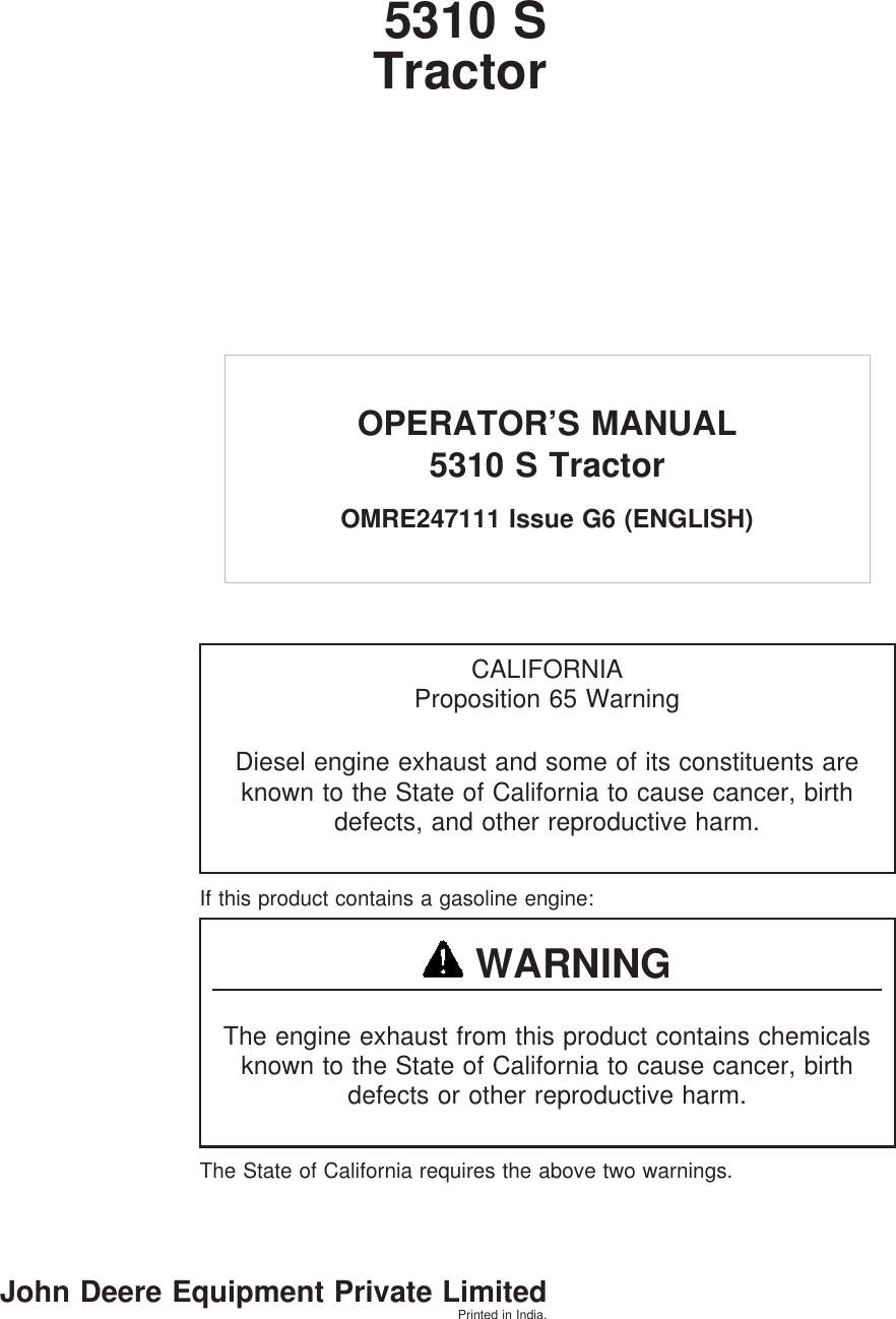 John Deere Wiring Diagram 5310 Tractor Trusted Schematics 355d S Users Manual 013231unit 4430