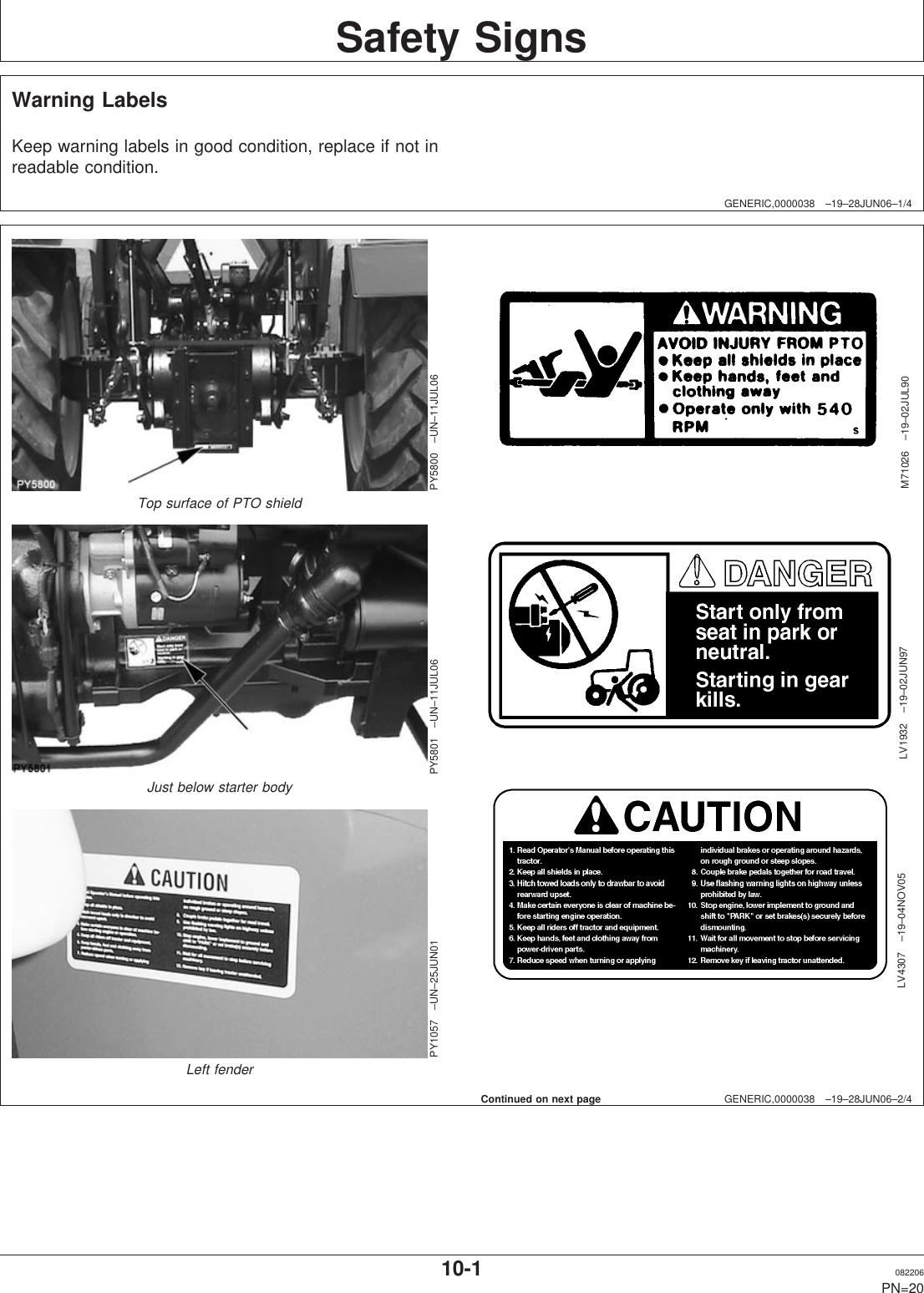 John Deere 5310 S Users Manual 013231UNIT