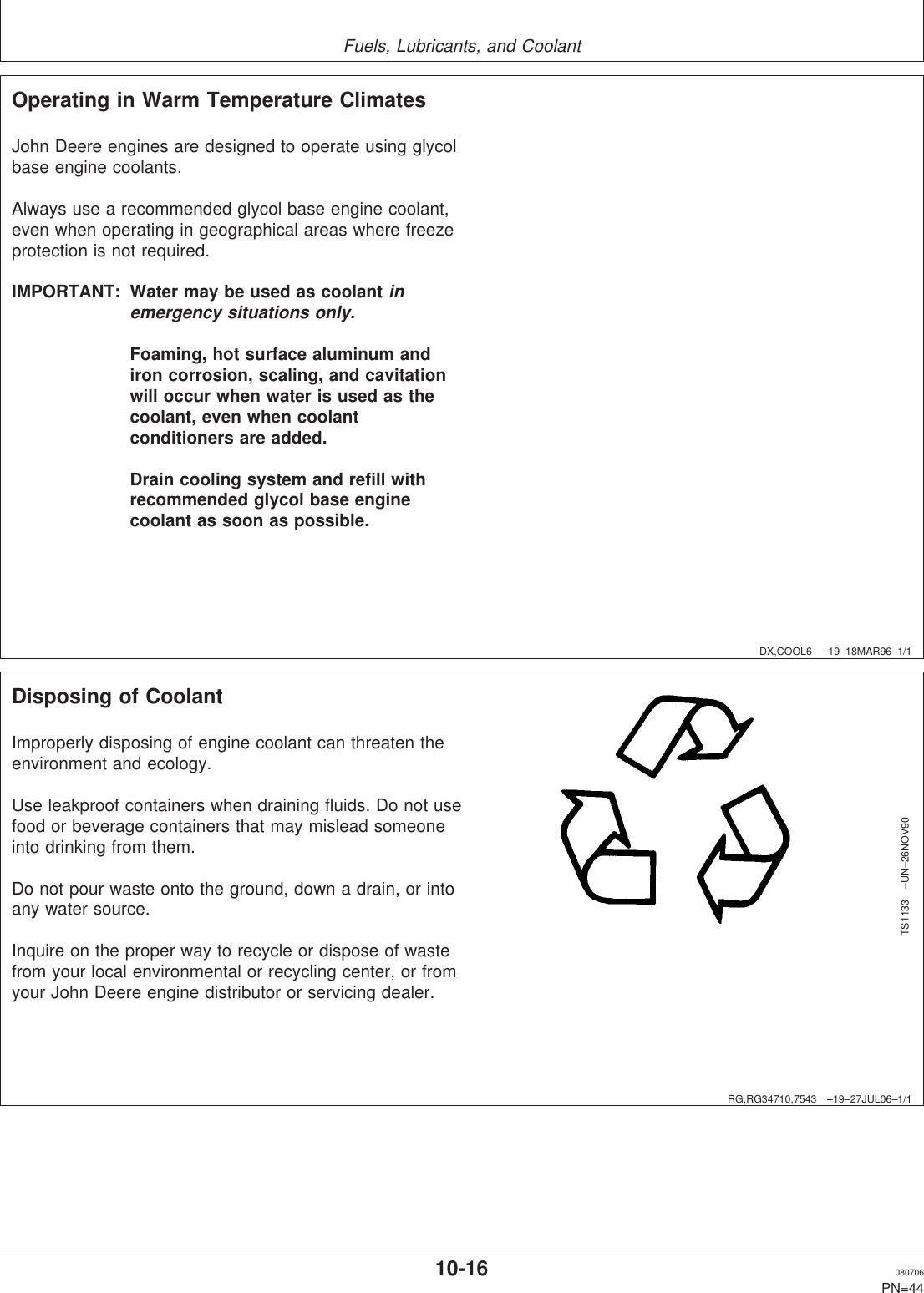John Deere Powertech 6068 Users Manual 100525UNIT on