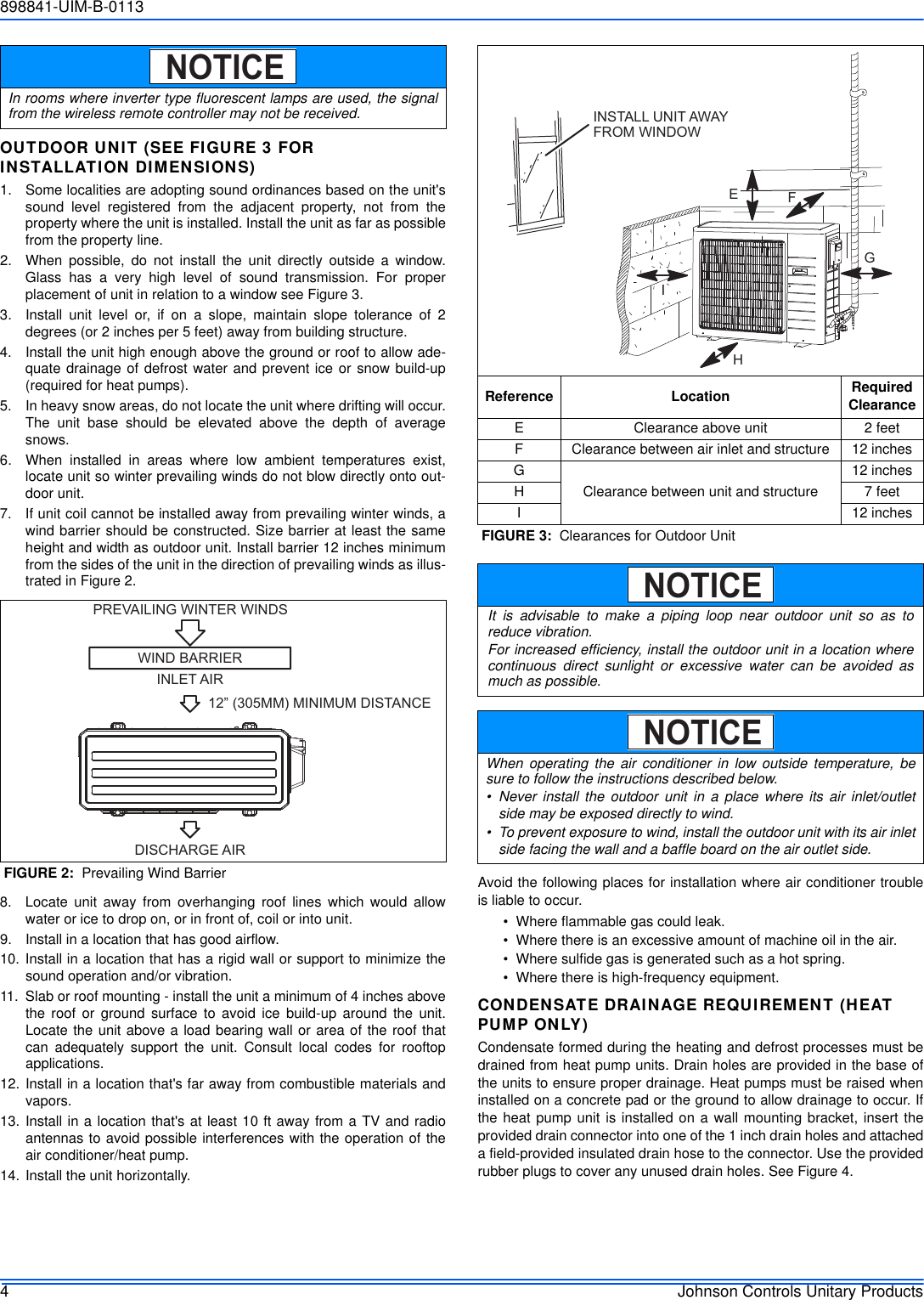 Johnson Controls Inc Air Conditioner 22 Seer Users Manual