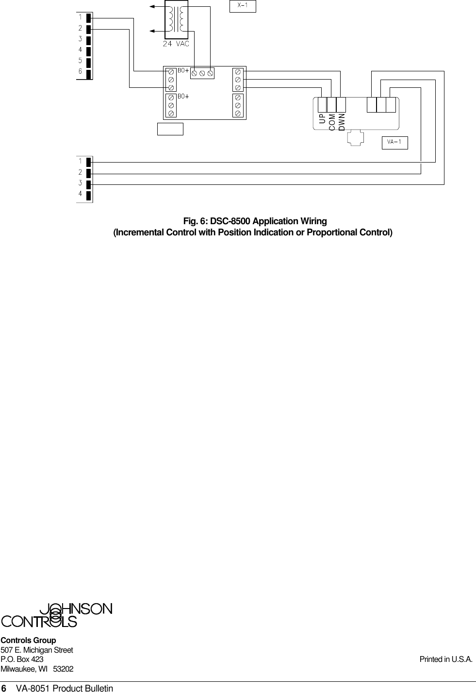 Johnson Controls Va 8051 Users Manual Electric Valve Actuator Wiring Diagram Page 6 Of
