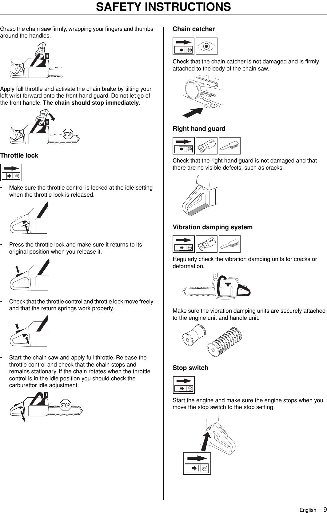 Jonsered Powerlite 50C Users Manual OM, CS2165, CS2171, CS