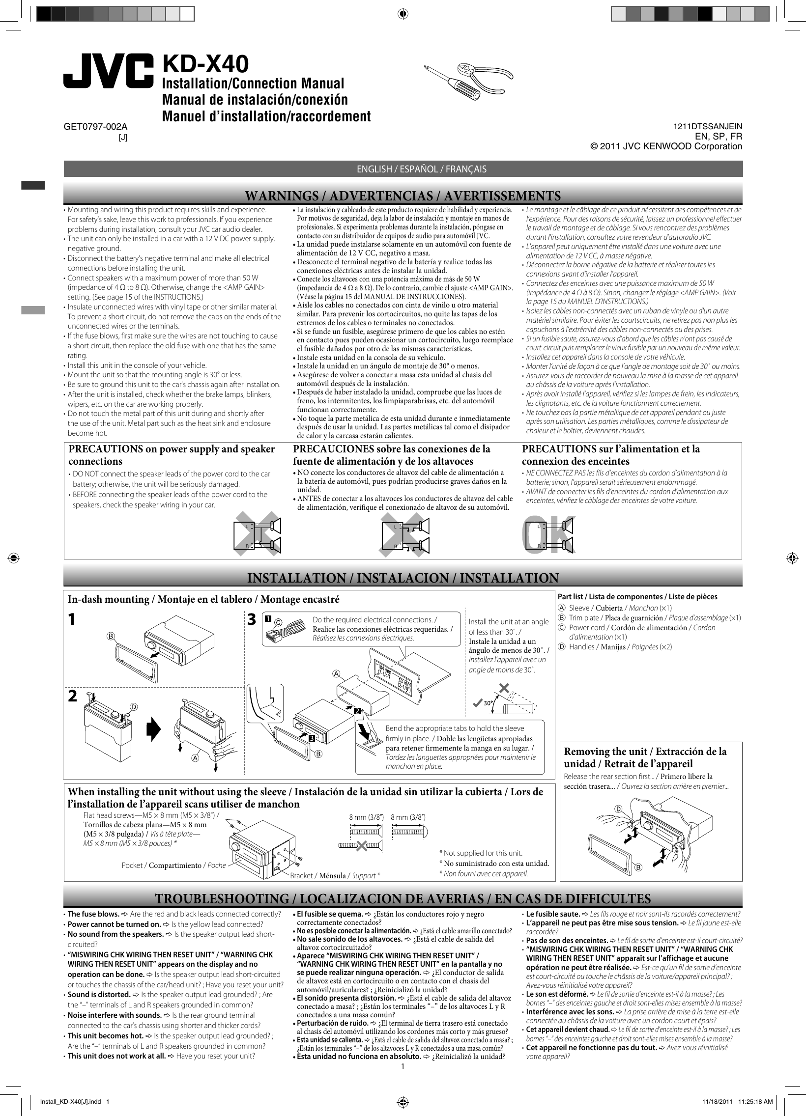 Jvc Kd-Sr61 Wiring Harness Diagram from usermanual.wiki