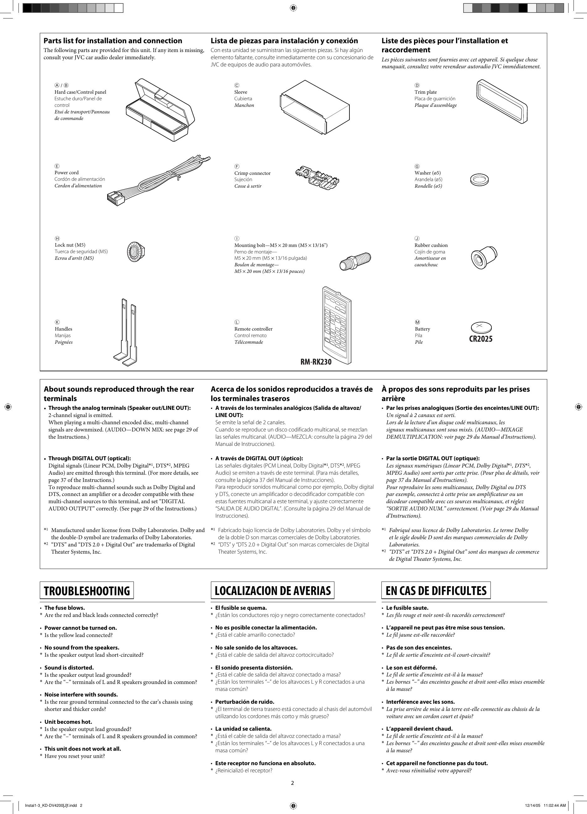 Jvc Kd Dv4200 Installation Manual Instal1 3_KD DV4200[J]f