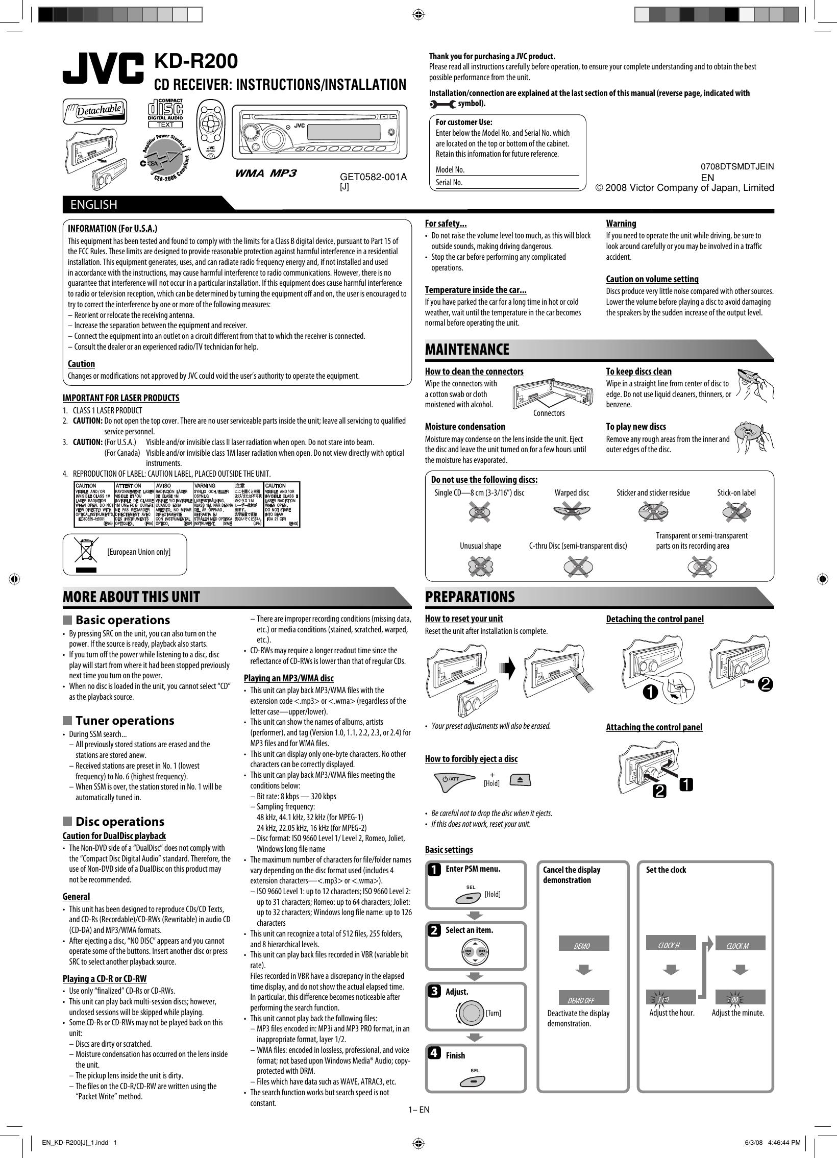 Jvc Kd R200 Wiring Diagram Page 2 And Schematics R540 Instruction Manual En J 1 Indd Rh Usermanual Wiki