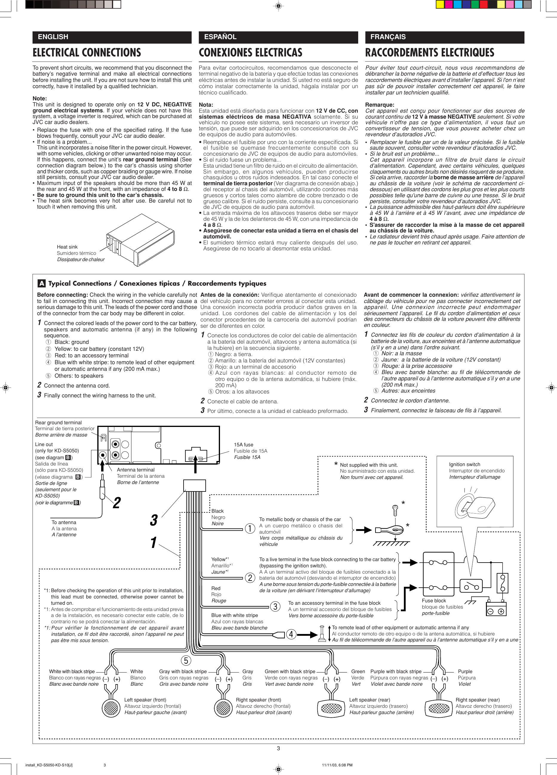 [DIAGRAM_38YU]  Jvc Kd S5050 Installation Manual | Jvc Kd S5050 Wiring Diagram |  | UserManual.wiki
