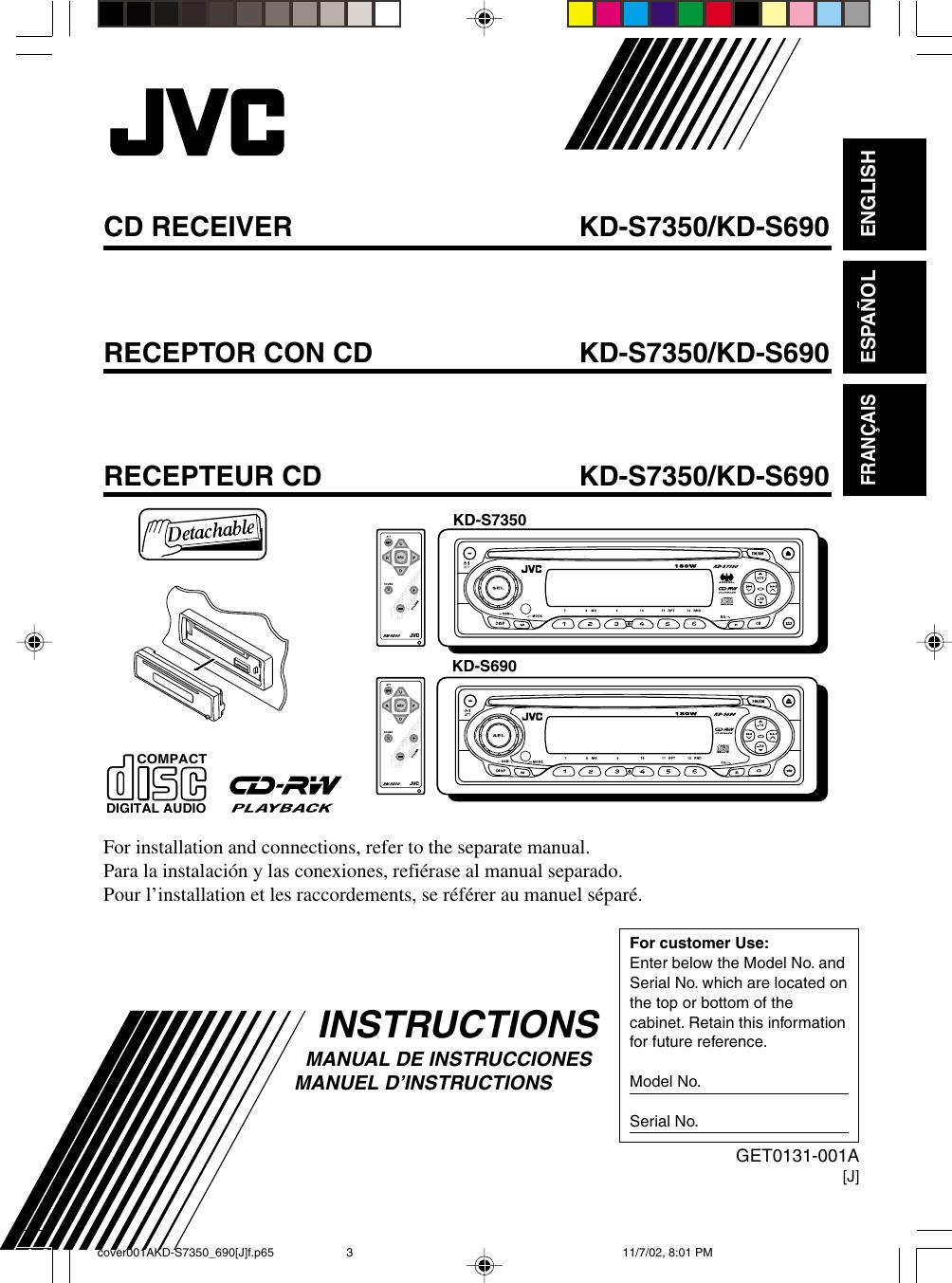 Jvc Kd S690 Users Manual