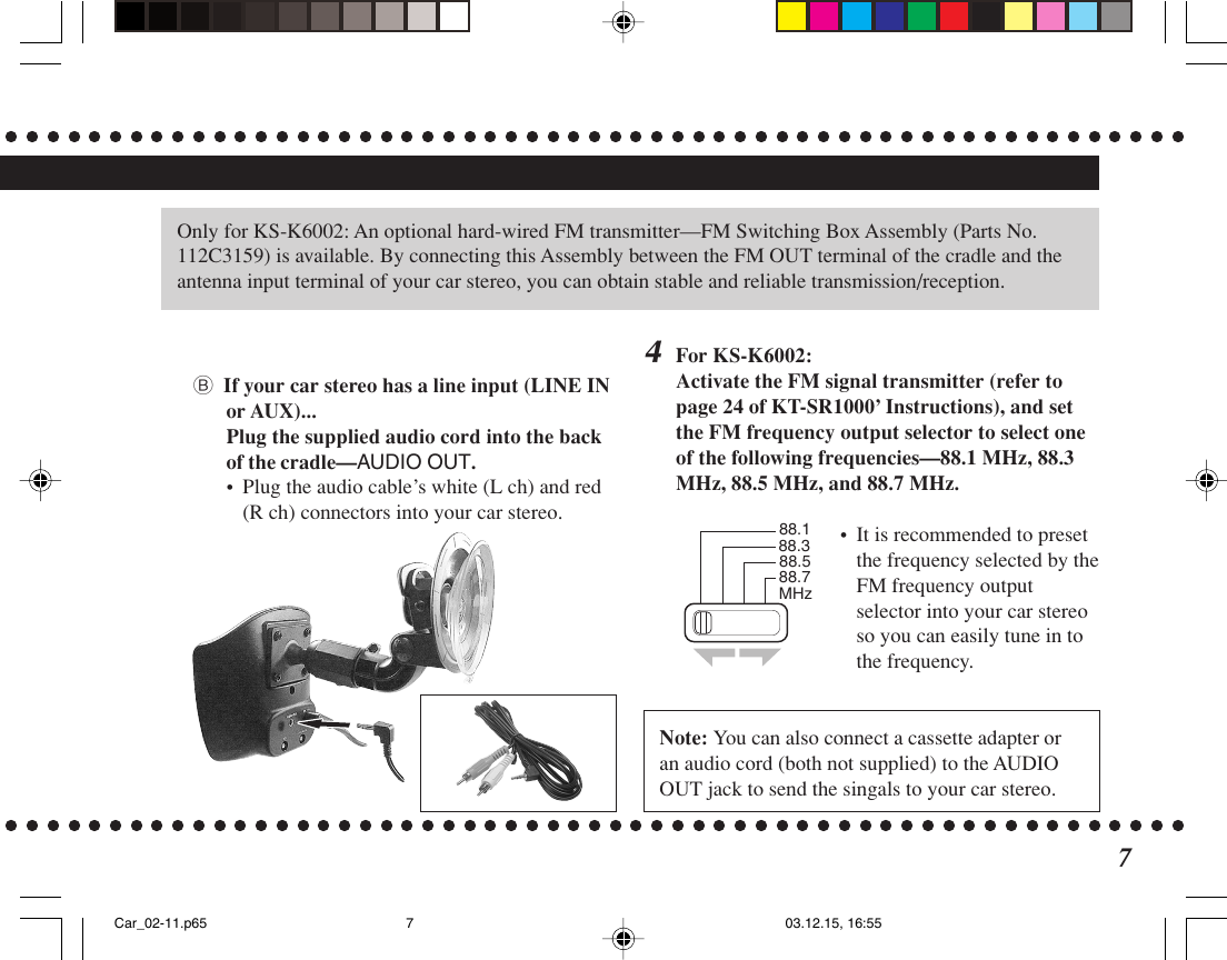 Jvc Ks K6001 Installation Manual K6002_K6001