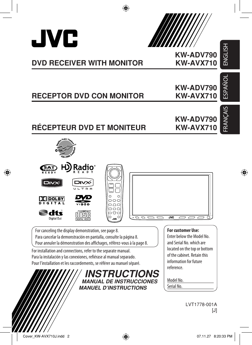 Jvc Kw Avx716 Users Manual Lvt1778 001a