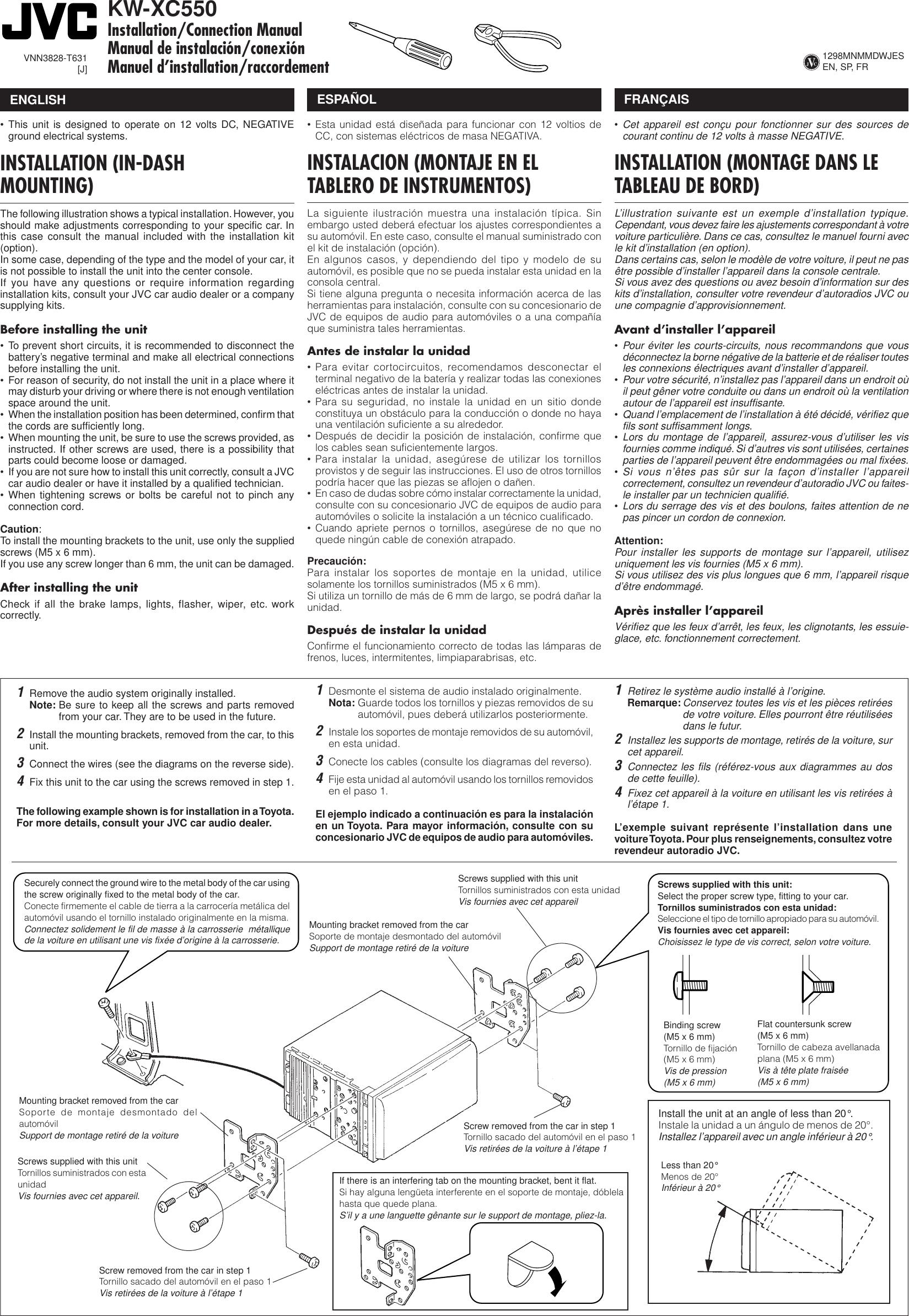 [DIAGRAM_38EU]  Jvc Kw Xc550 Installation Manual | Jvc Kw Wiring Diagram |  | UserManual.wiki