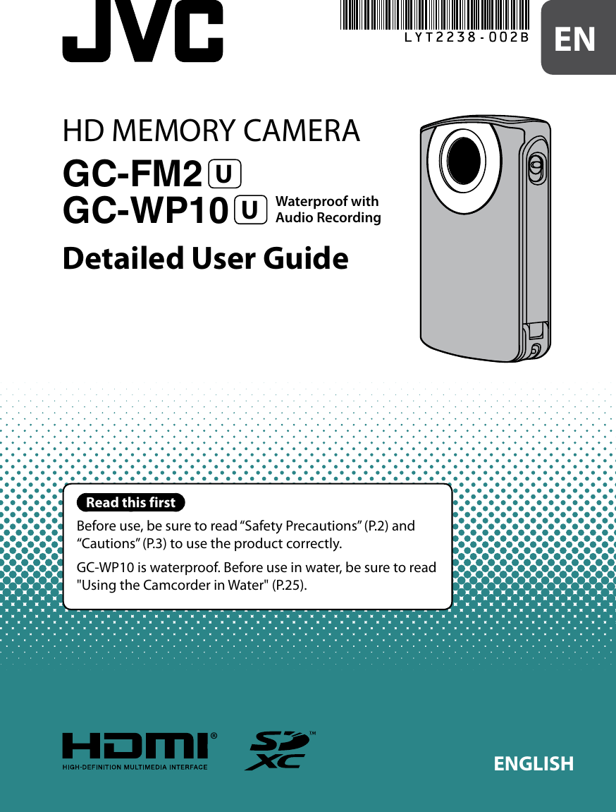 Jvc Picsio High Definition Digital Camcorder 0810Ymh Al Ot Users Manual  C1X2/X3