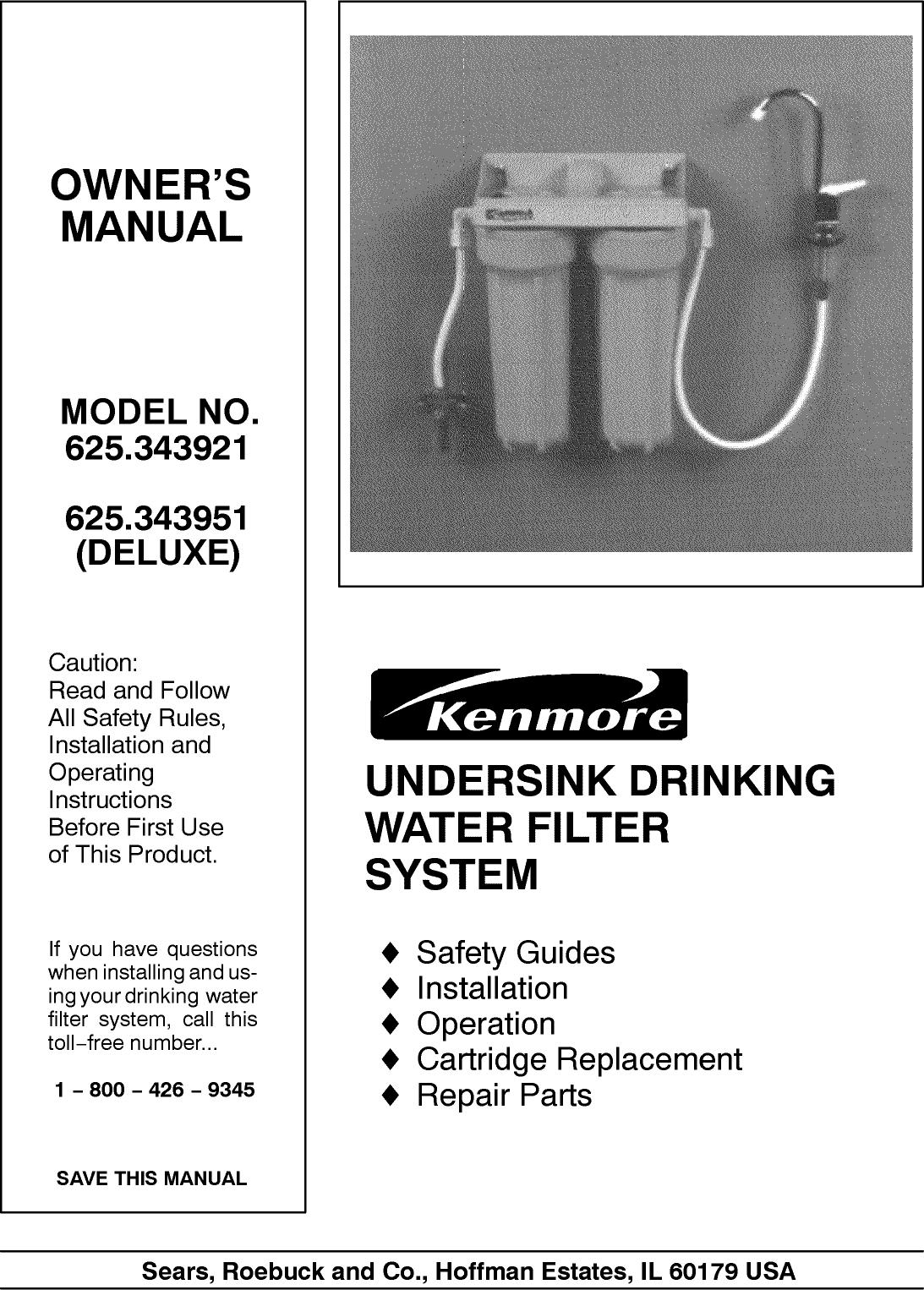 KENMORE Water Filter Manual L0807617