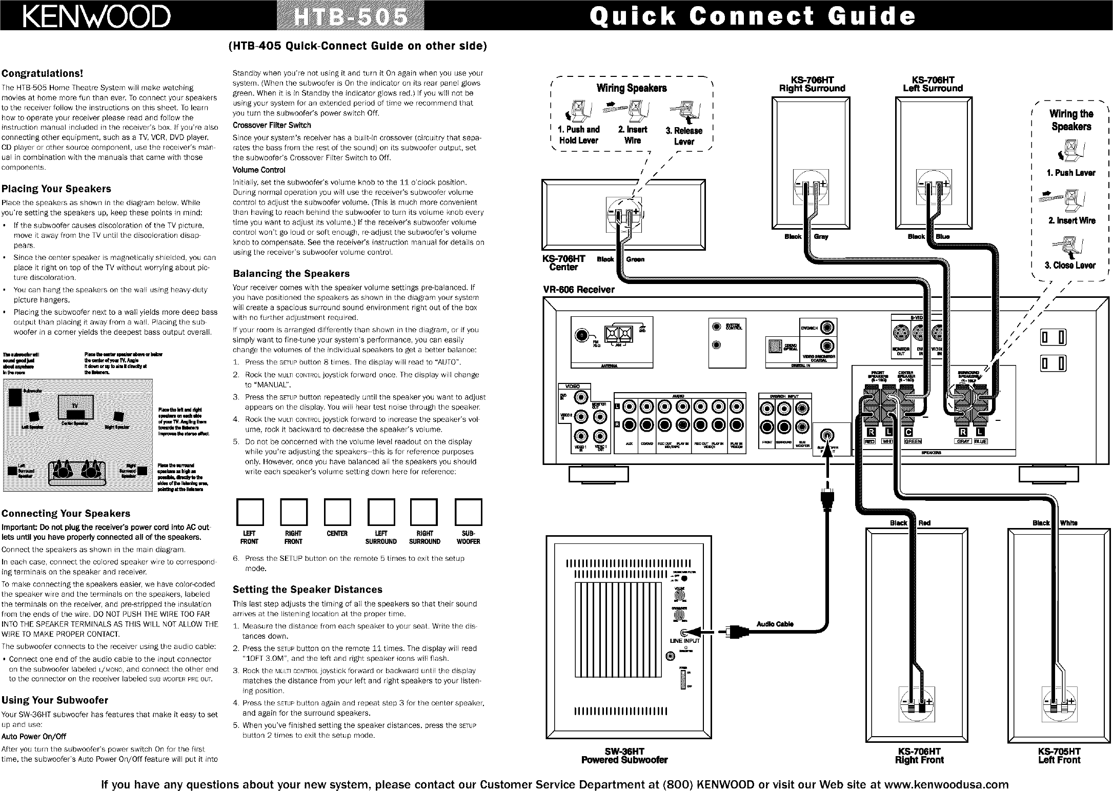 Kenwood Home Theatre Manual L0211206 Wiring Diagrams Page 2 Of