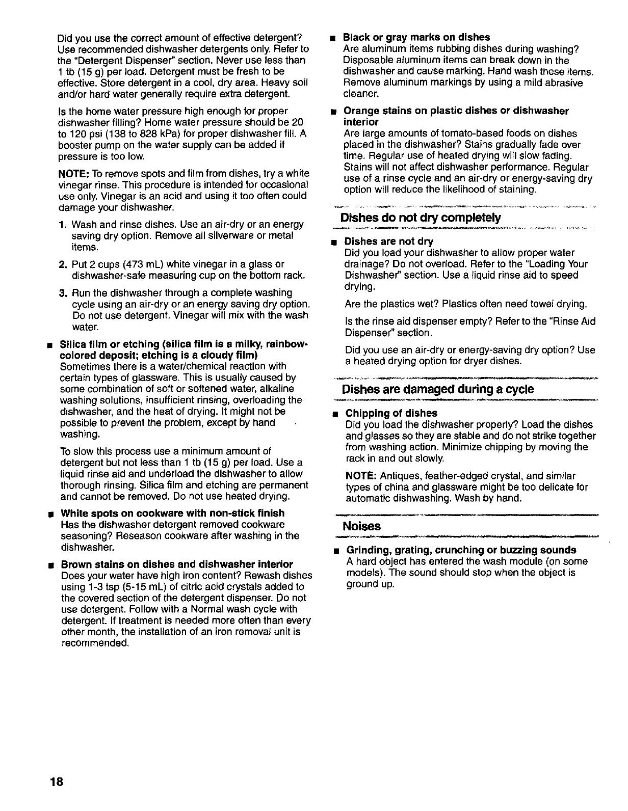 KITCHENAID Dishwasher Manual L9910116