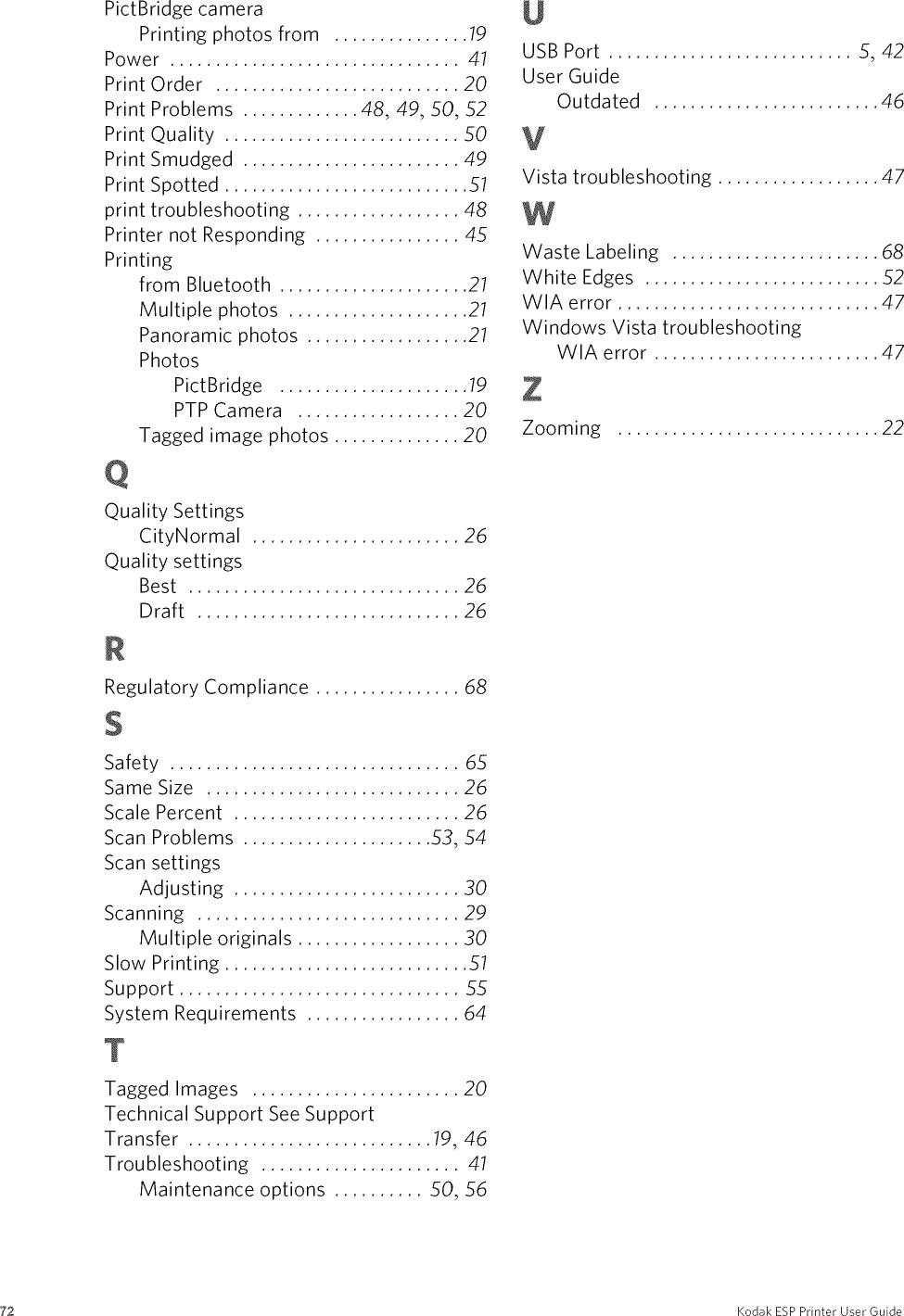 KODAK Printer Manual L0903782