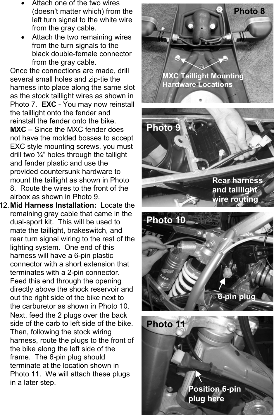 Ktm Dual Sport Kit Installation Manual 04 450 525 Exc User To The Wiring Harness Page 4 Of 10