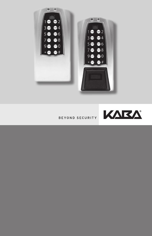 Kaba Access E Plex Electronic Pushbutton Lock 5070/5270/5670
