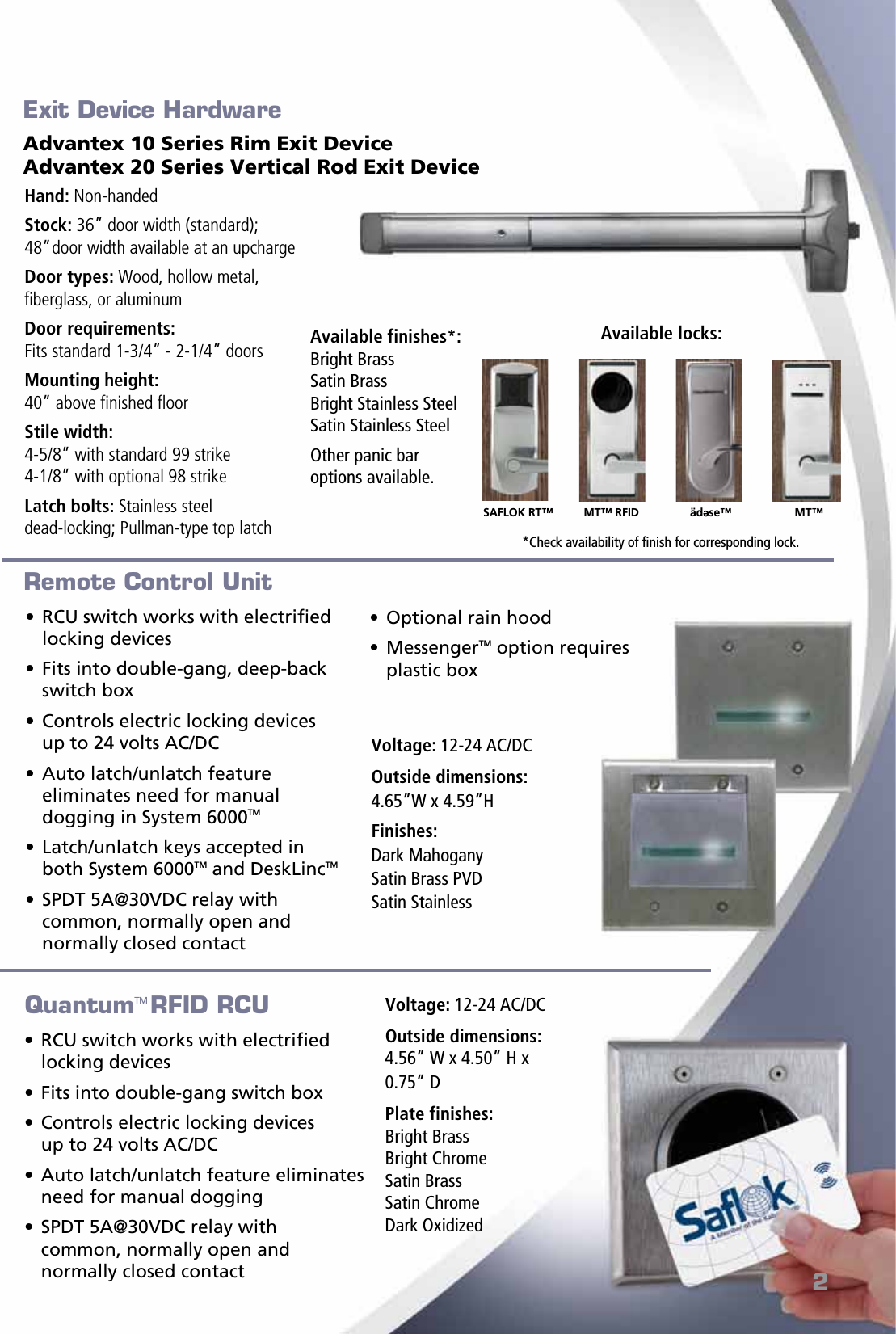 Kaba Saflok Perimeter Common Brochure on