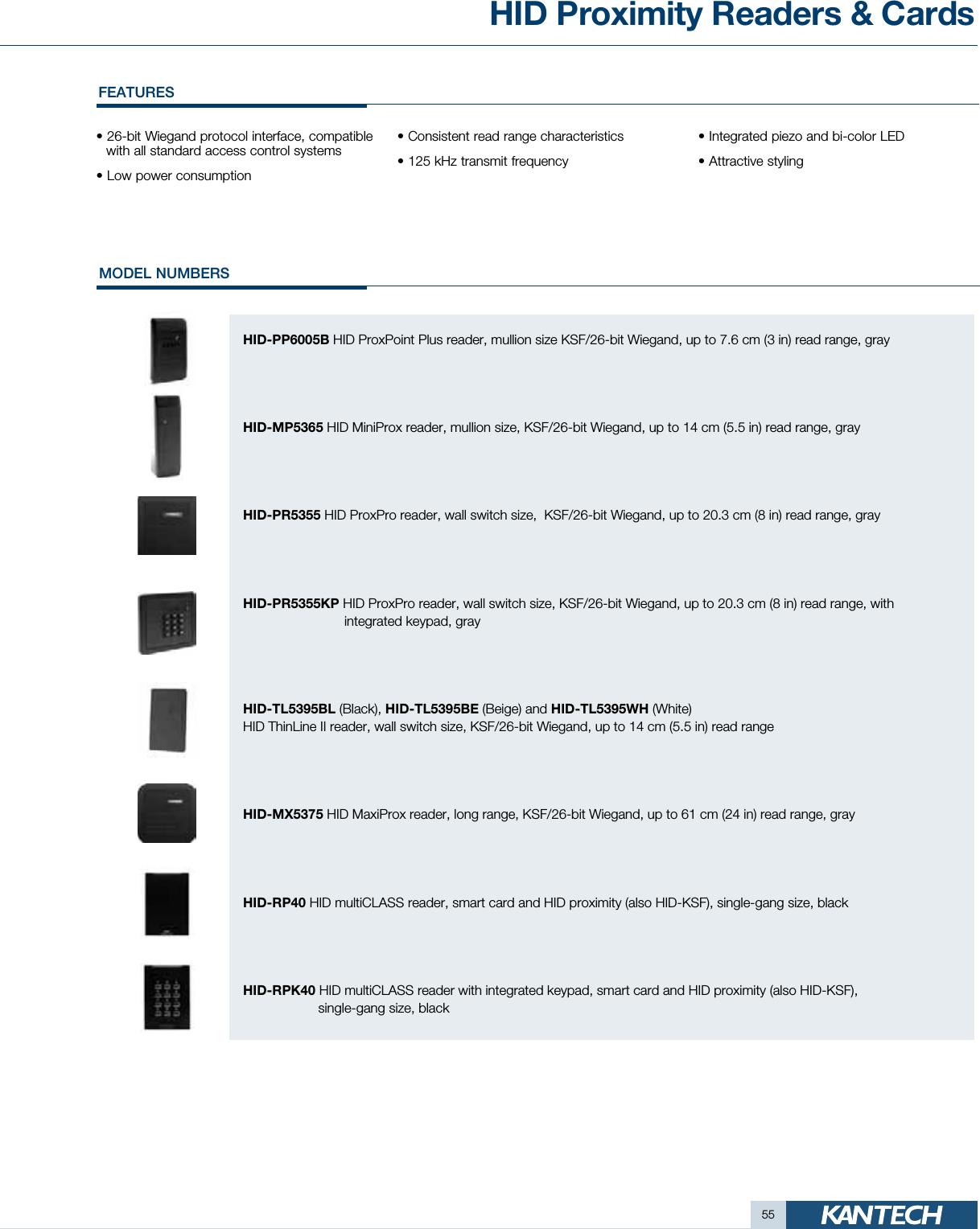 Kantech Product Catalog Kantechcatalog