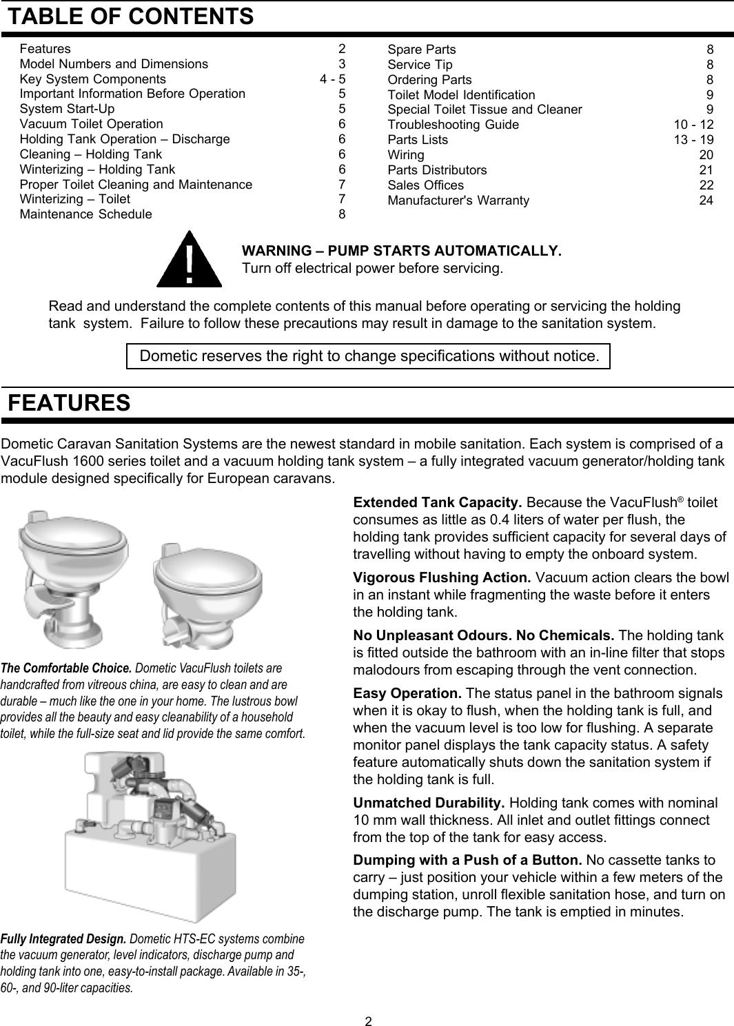Kawasaki 1600 Caravan Sanitation OM p65 User Manual To The