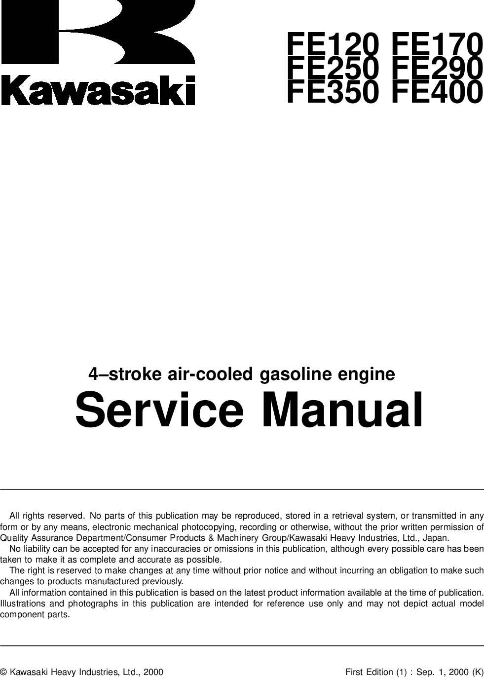 Kawasaki FE290 User Manual To The E7933203 045b 4f54 b9ce