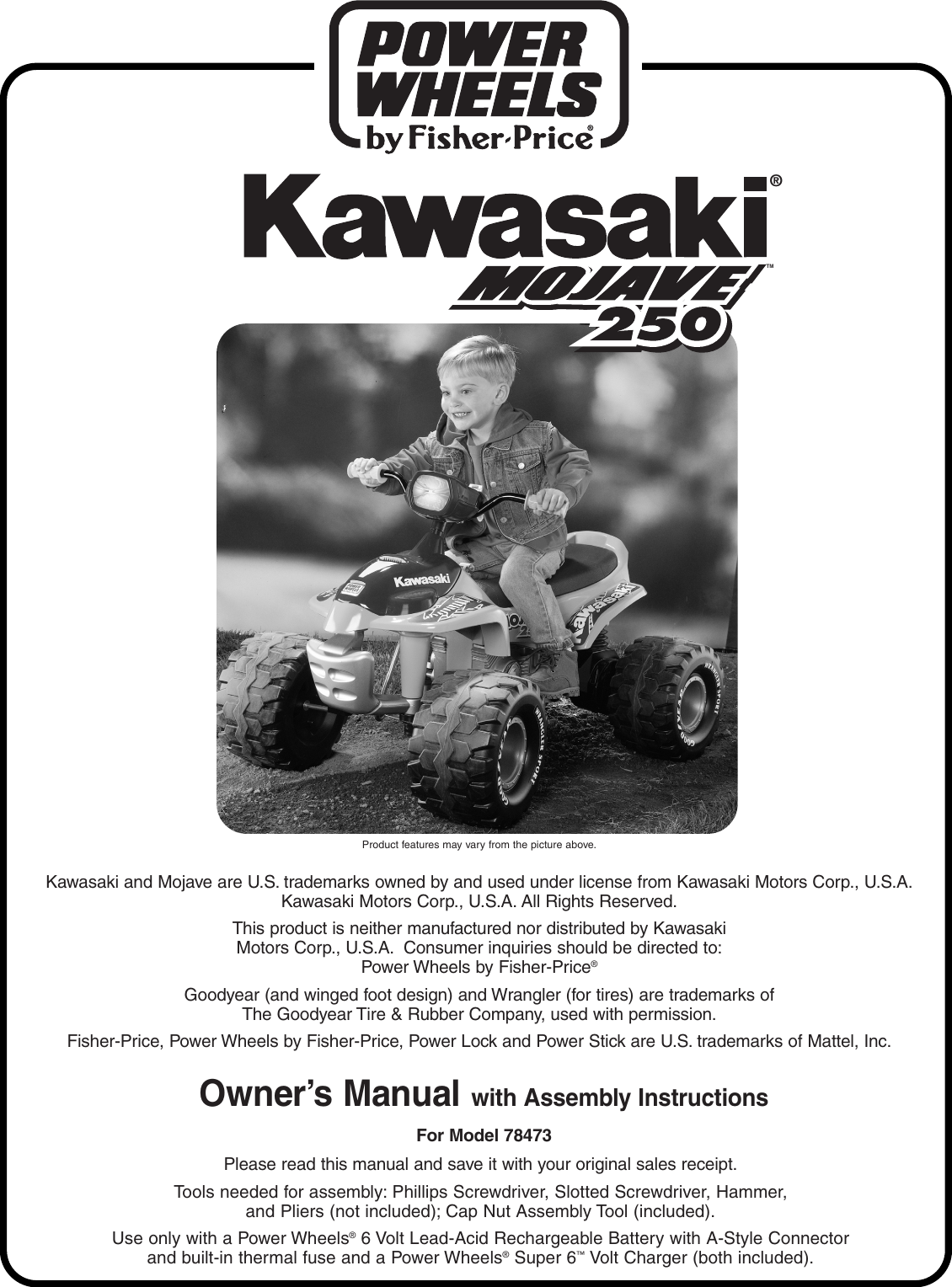 Kawasaki Mojave 78473 Users Manual 78473pr 0920qrk Handle Hand Grip Handgrip Ninja Rr R Original