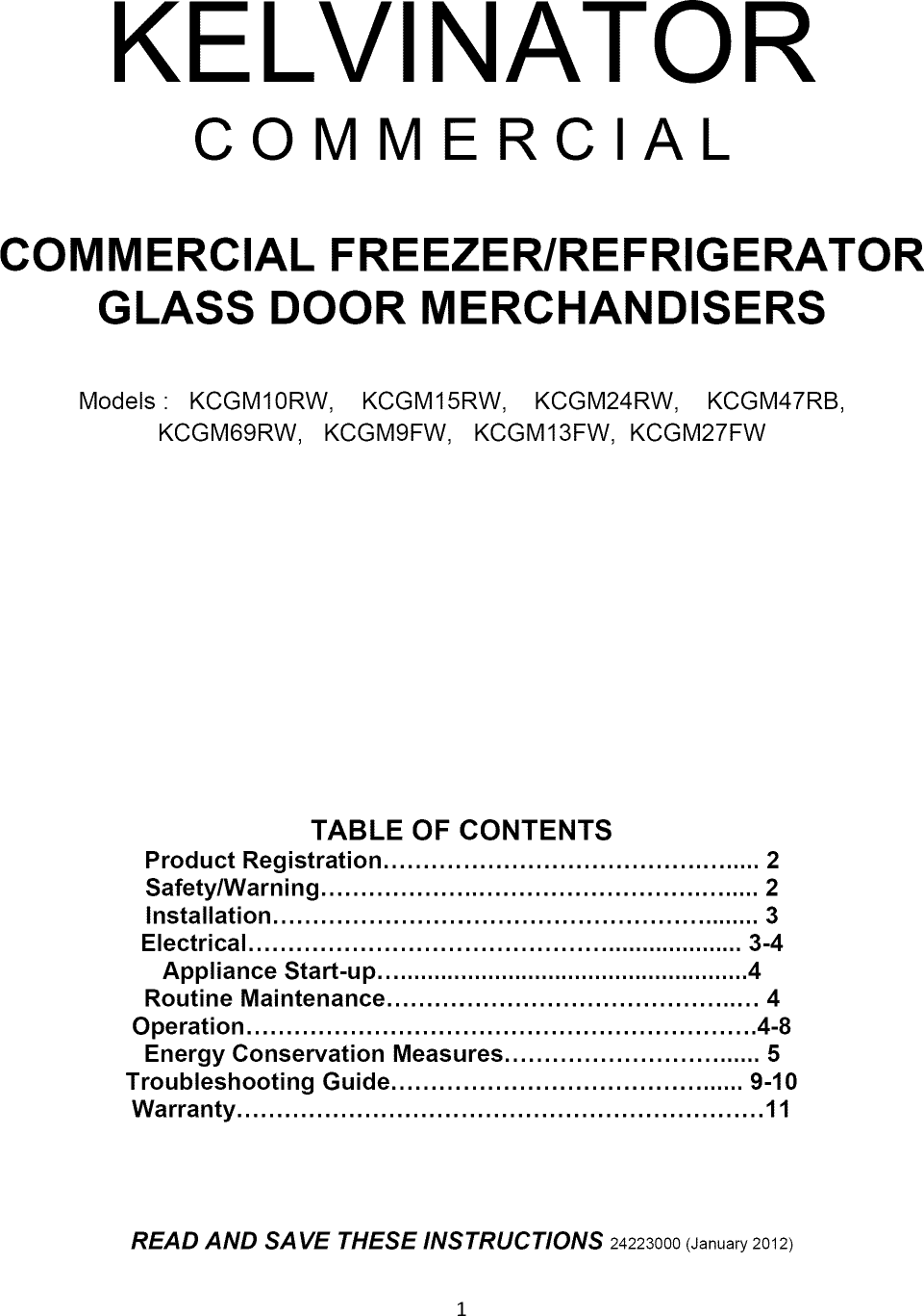 kelvinator kcgm10rb user manual glass door refrigerator manuals and rh usermanual wiki kelvinator refrigerator repair manual Old Kelvinator Refrigerator Parts